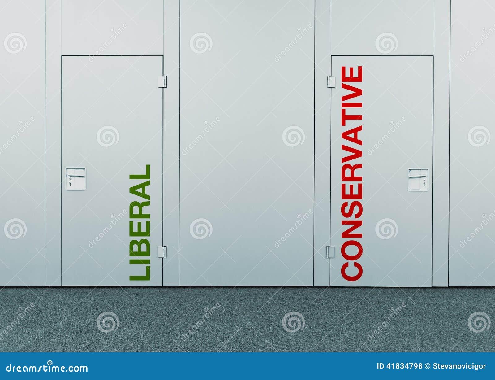 Либеральный или консервативный, концепция выбора
