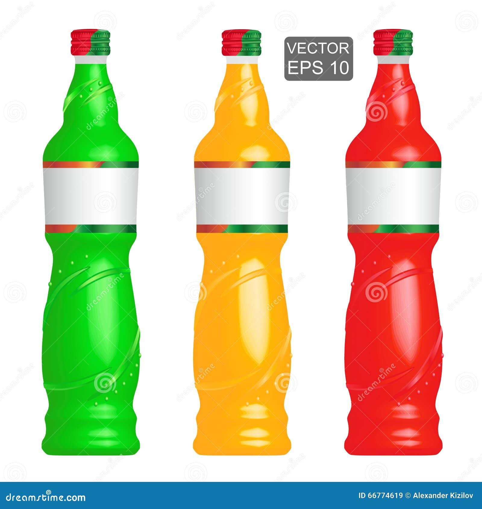 Лимонад разливает шаблон по бутылкам