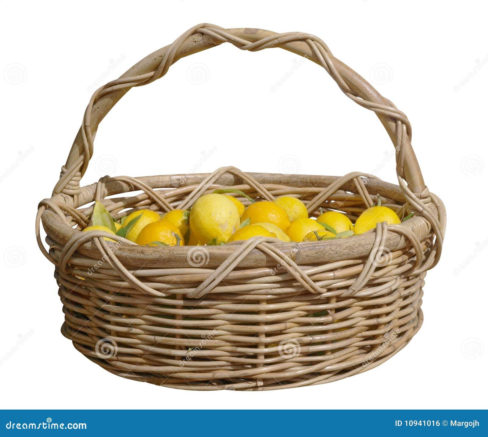 лимоны корзины свежие