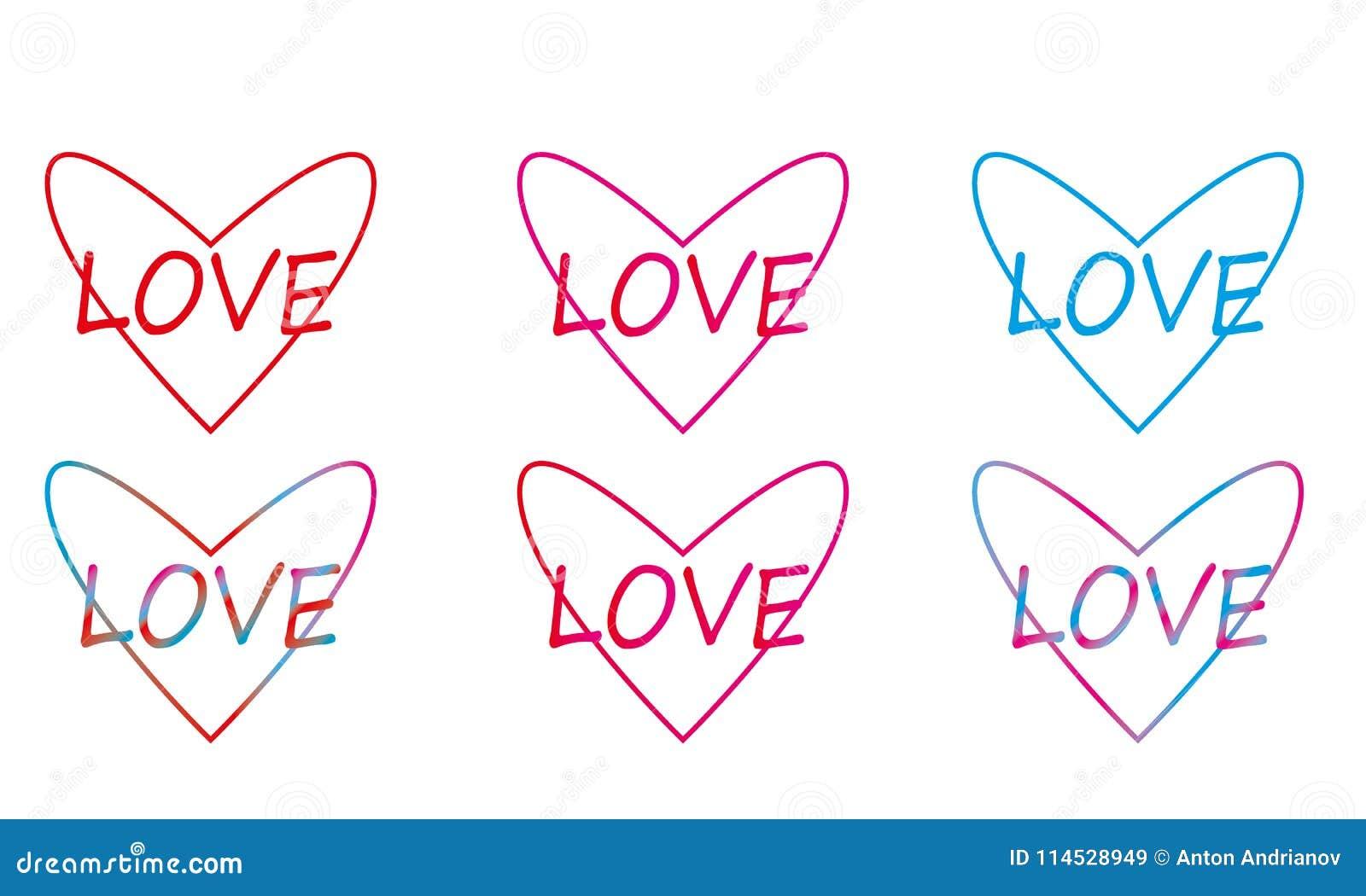 Линейные пестротканые сердца