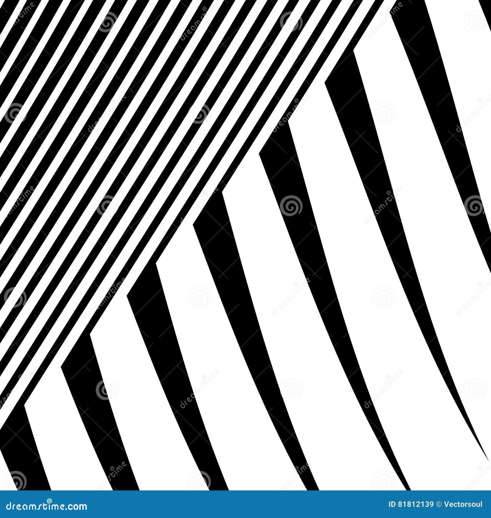 Линии с искажением Нервные, волнистые линии monochrome геометрическое Пэт