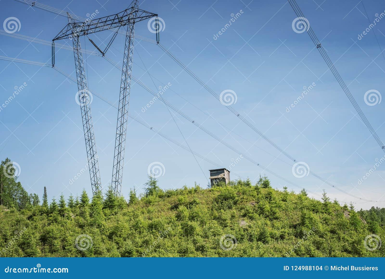 Линии электропередач в Laurentians