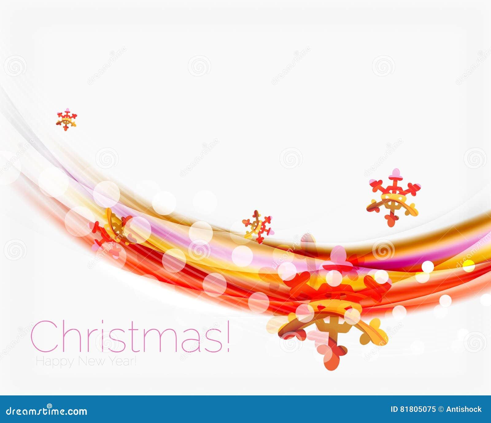 Линия волны с снежинками абстрактное рождество предпосылки