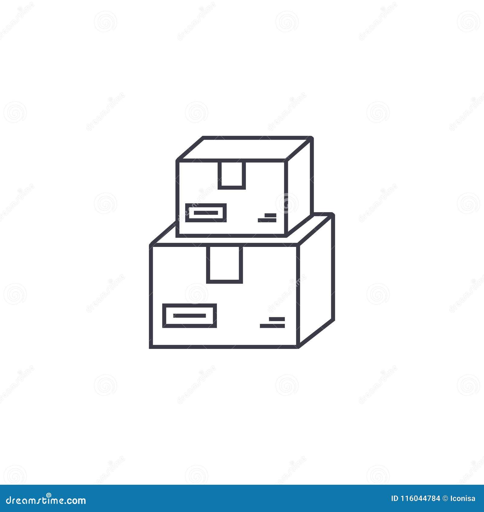 Линия значок вектора почтовой службы, знак, иллюстрация на предпосылке, editable ходах