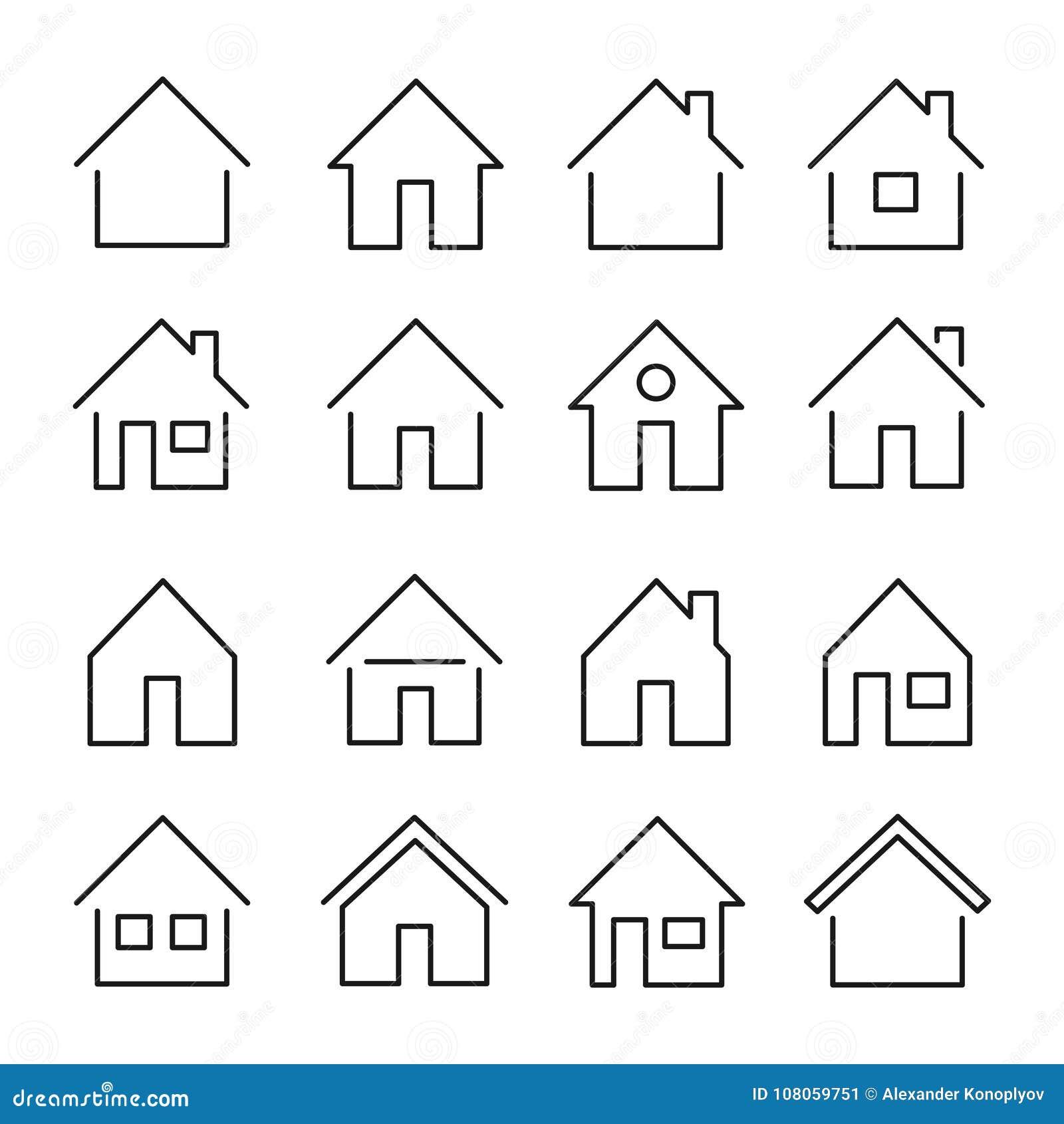Линия значок дома