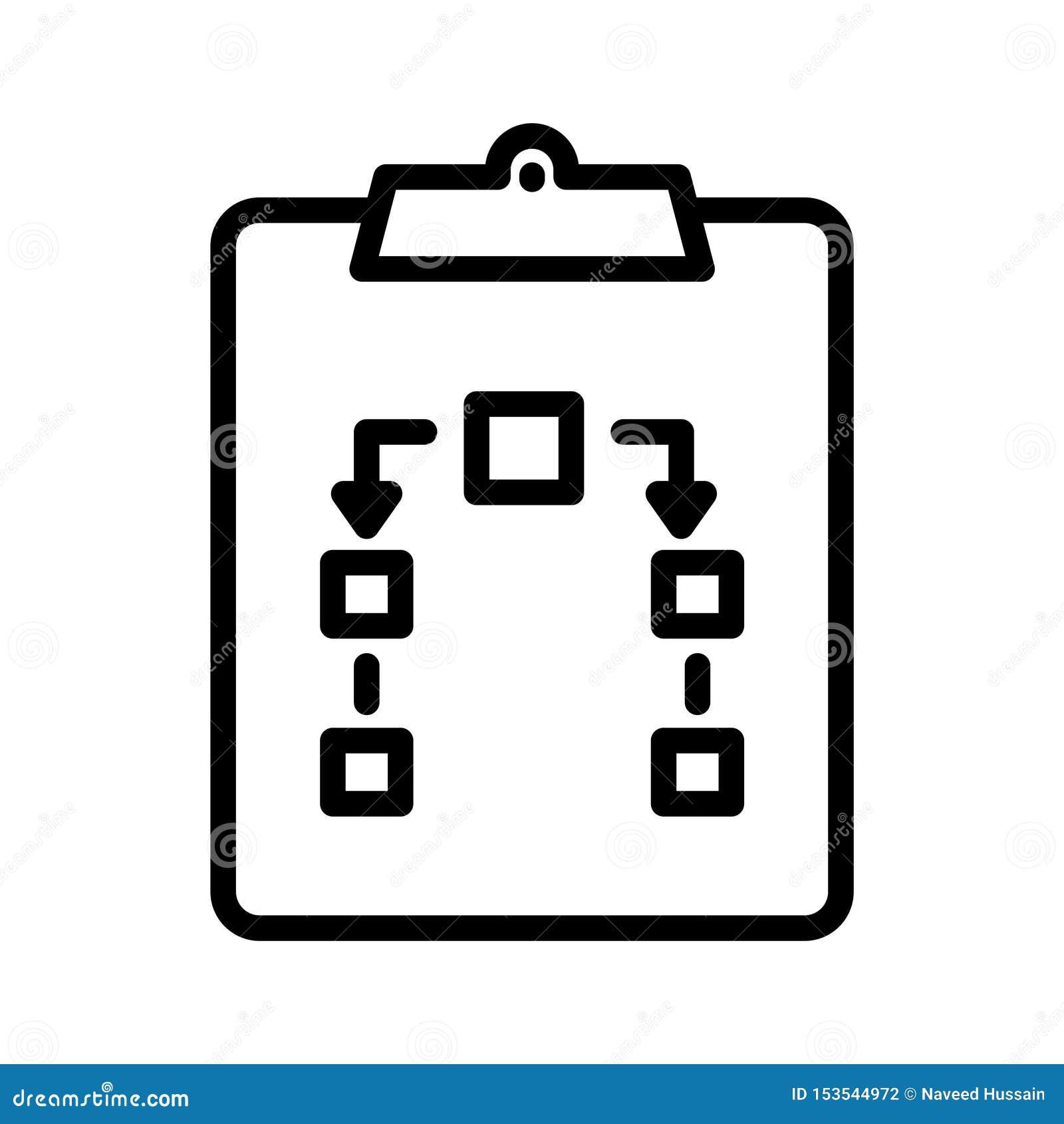 Линия значок доски сзажимом для бумаги тонкая вектора