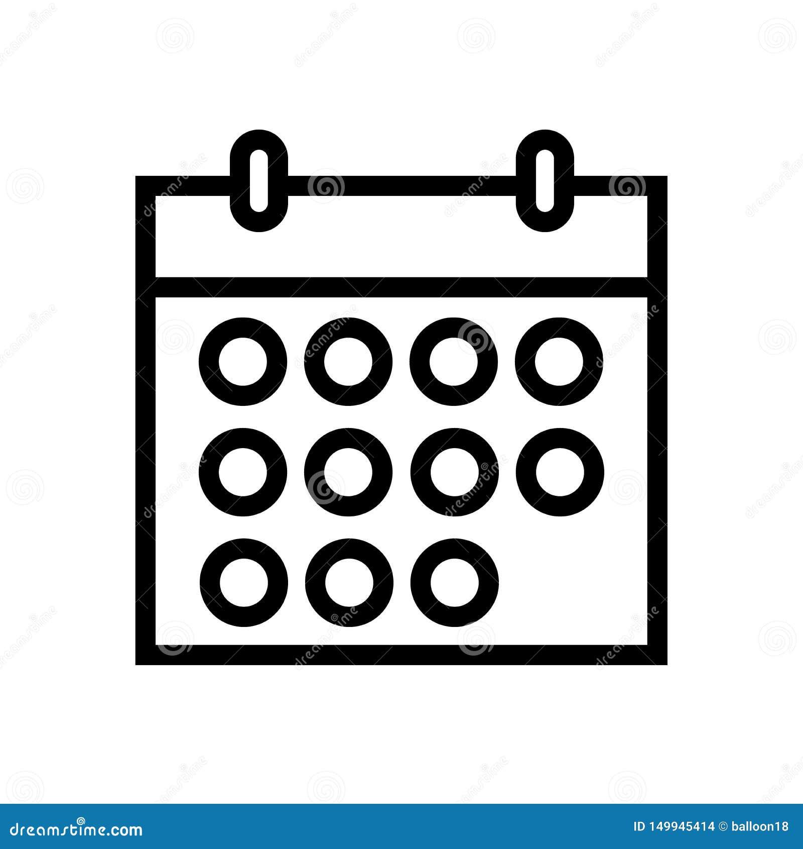 Линия значок календаря