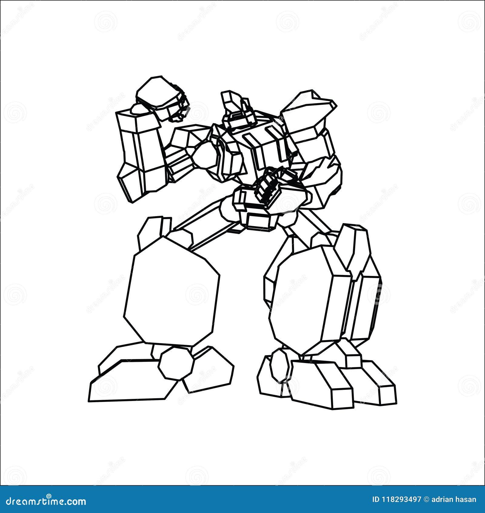 Линия искусство робота