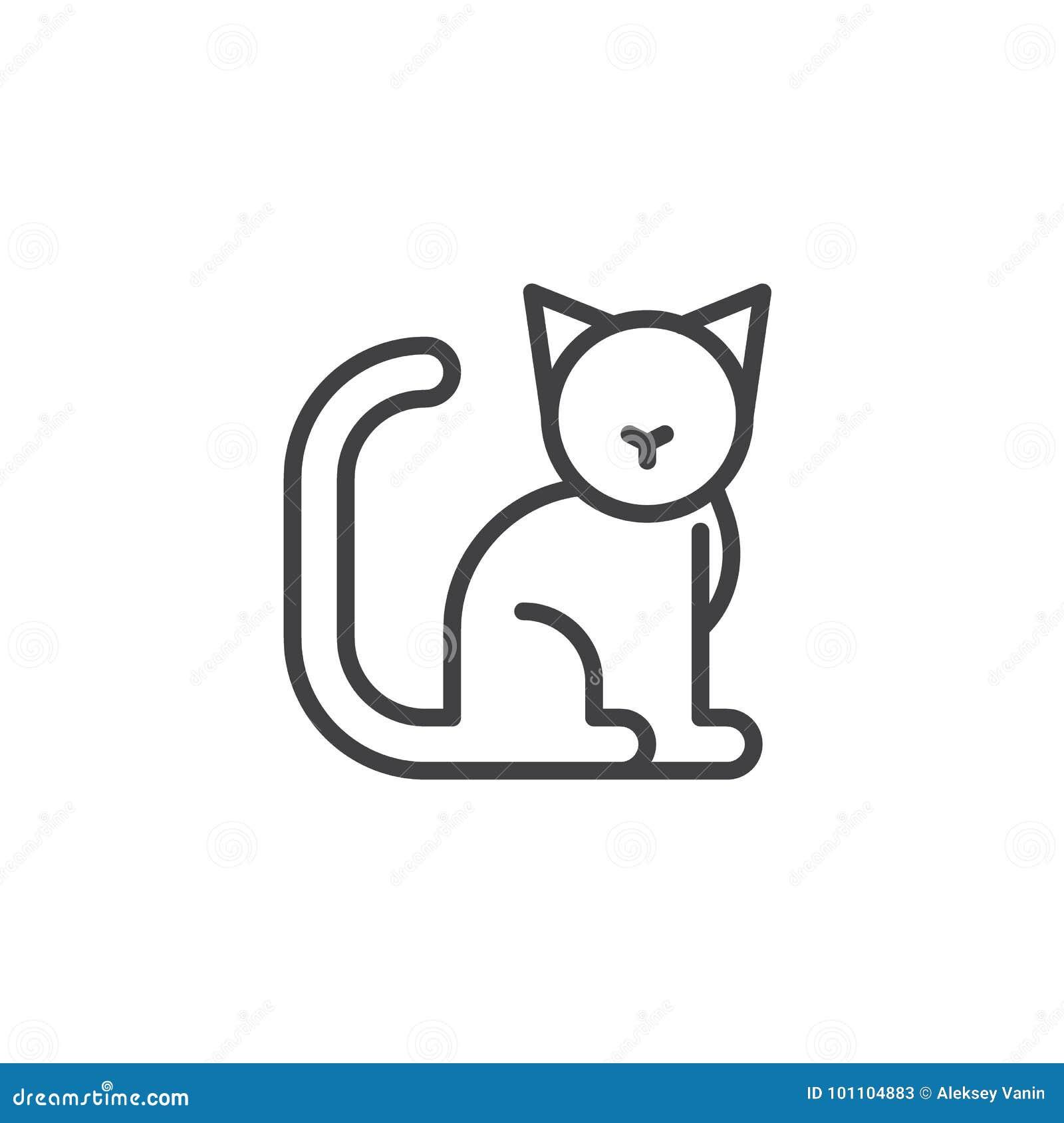 Линия кота значок