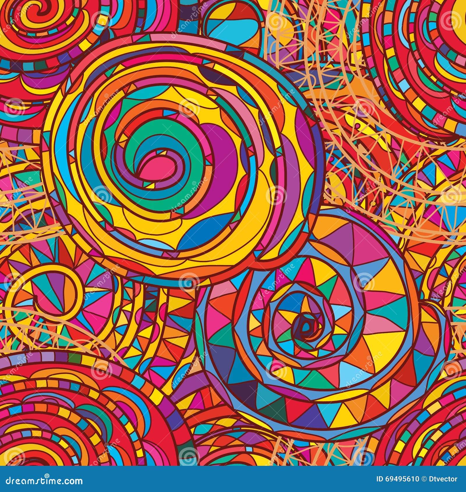 Линия польностью красочная безшовная картина свирли