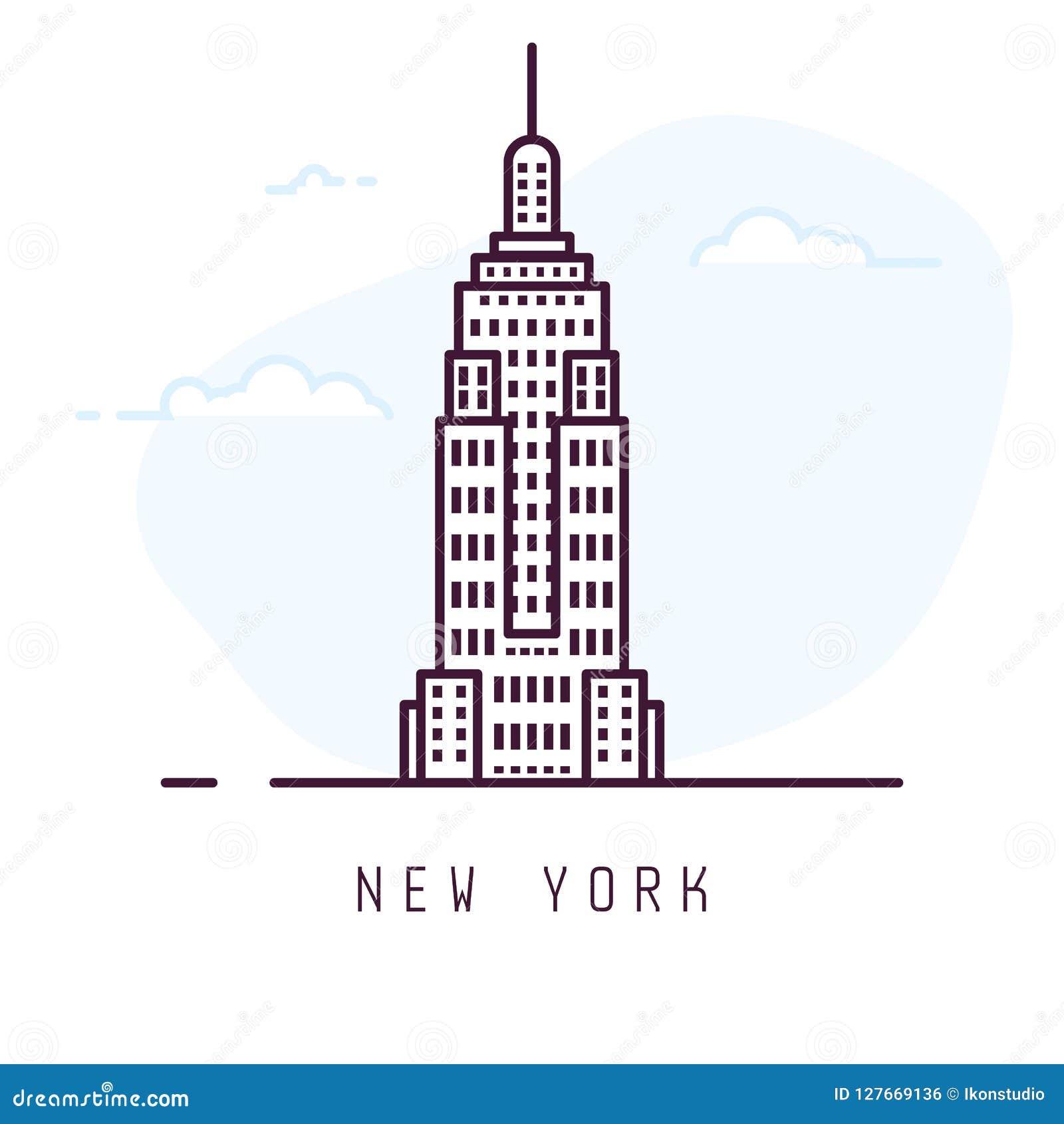 Линия стиль Нью-Йорка