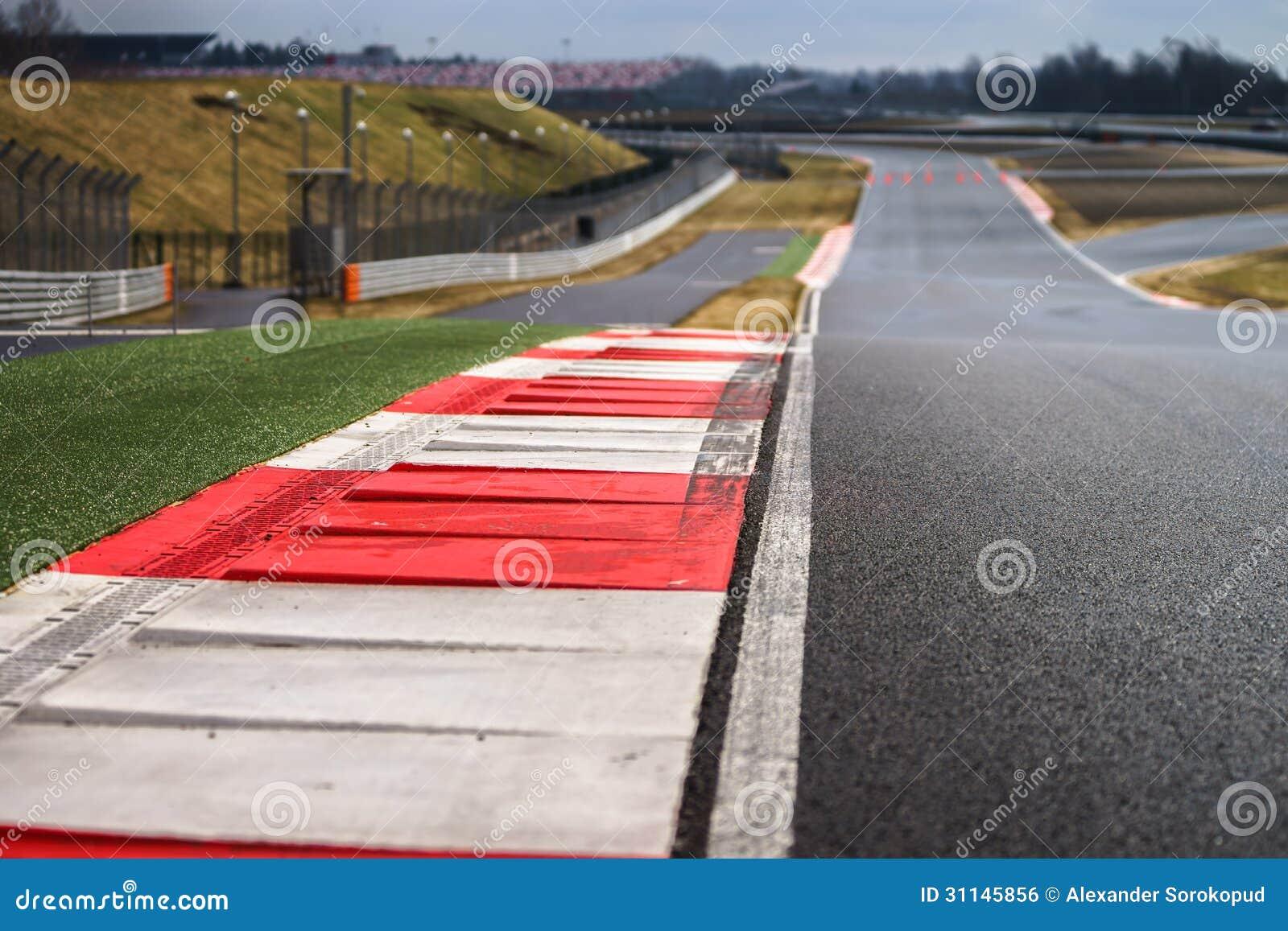 Линия следа пути гонки