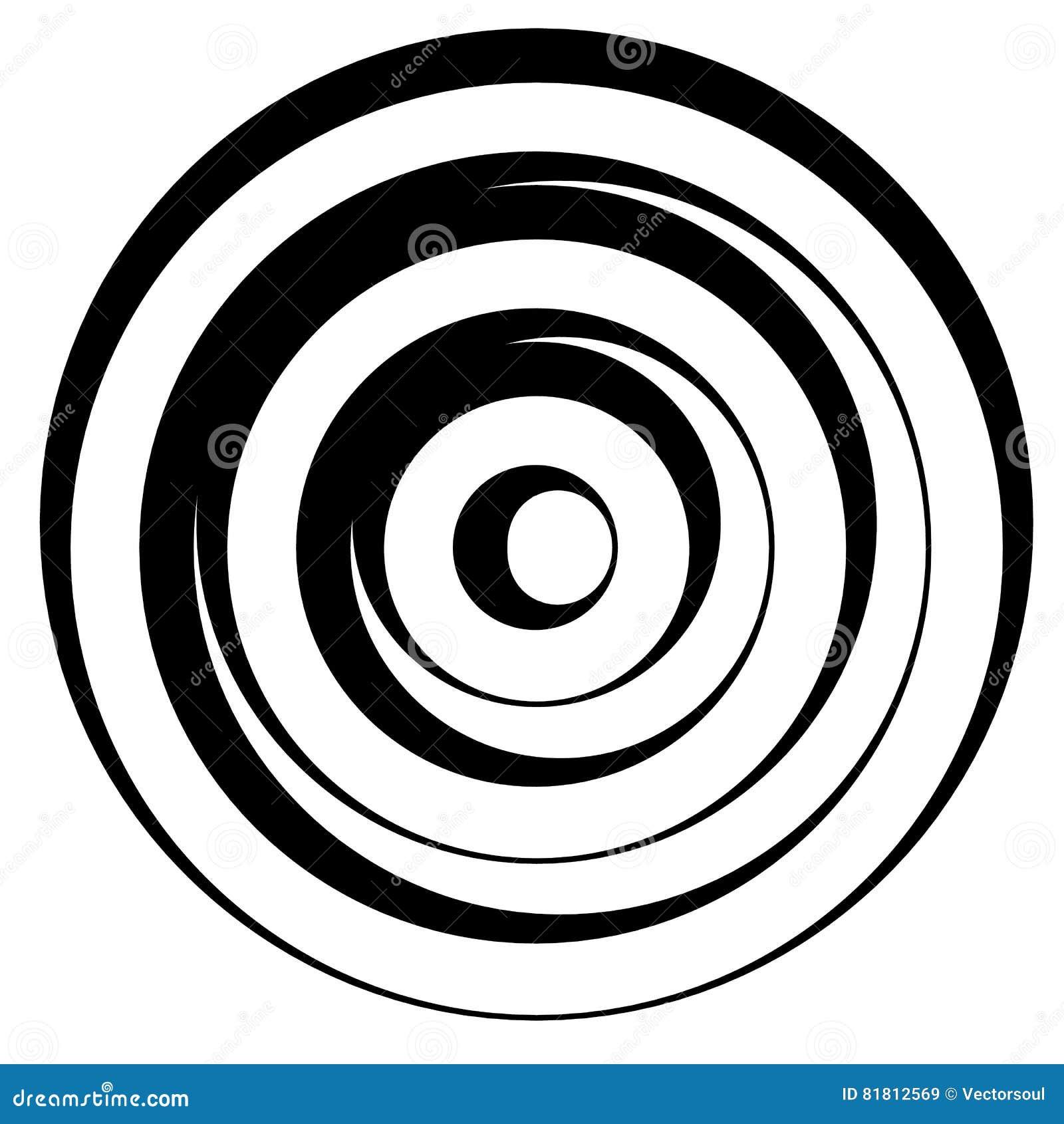 Линия сложной формы w концентрических кругов динамическая Monochrome конспект