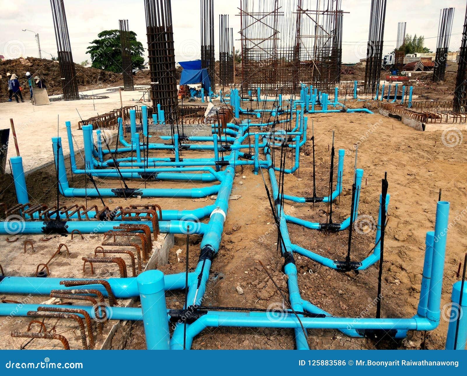 Линия трубопровода для санитарной системы