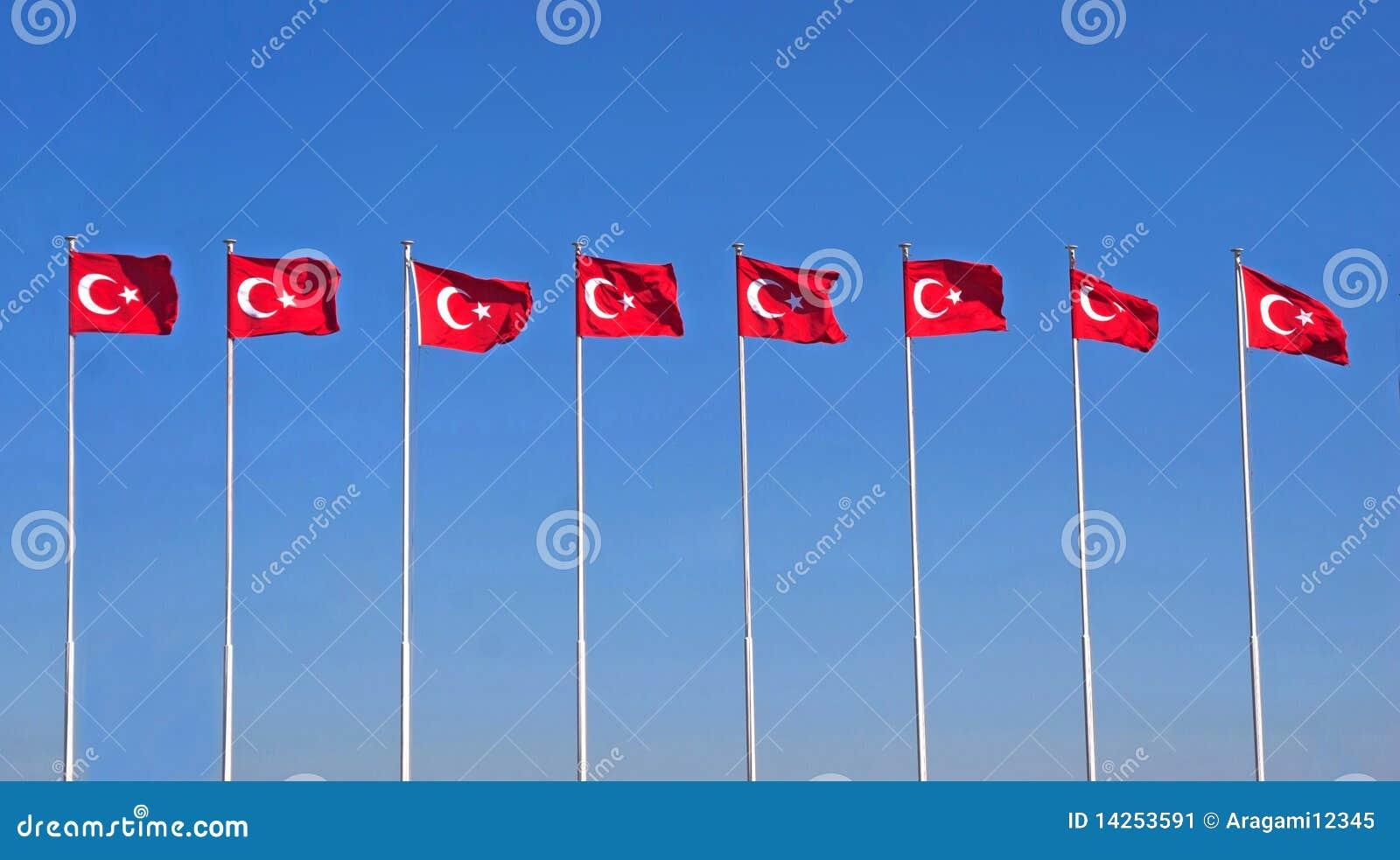 линия флагов turkish