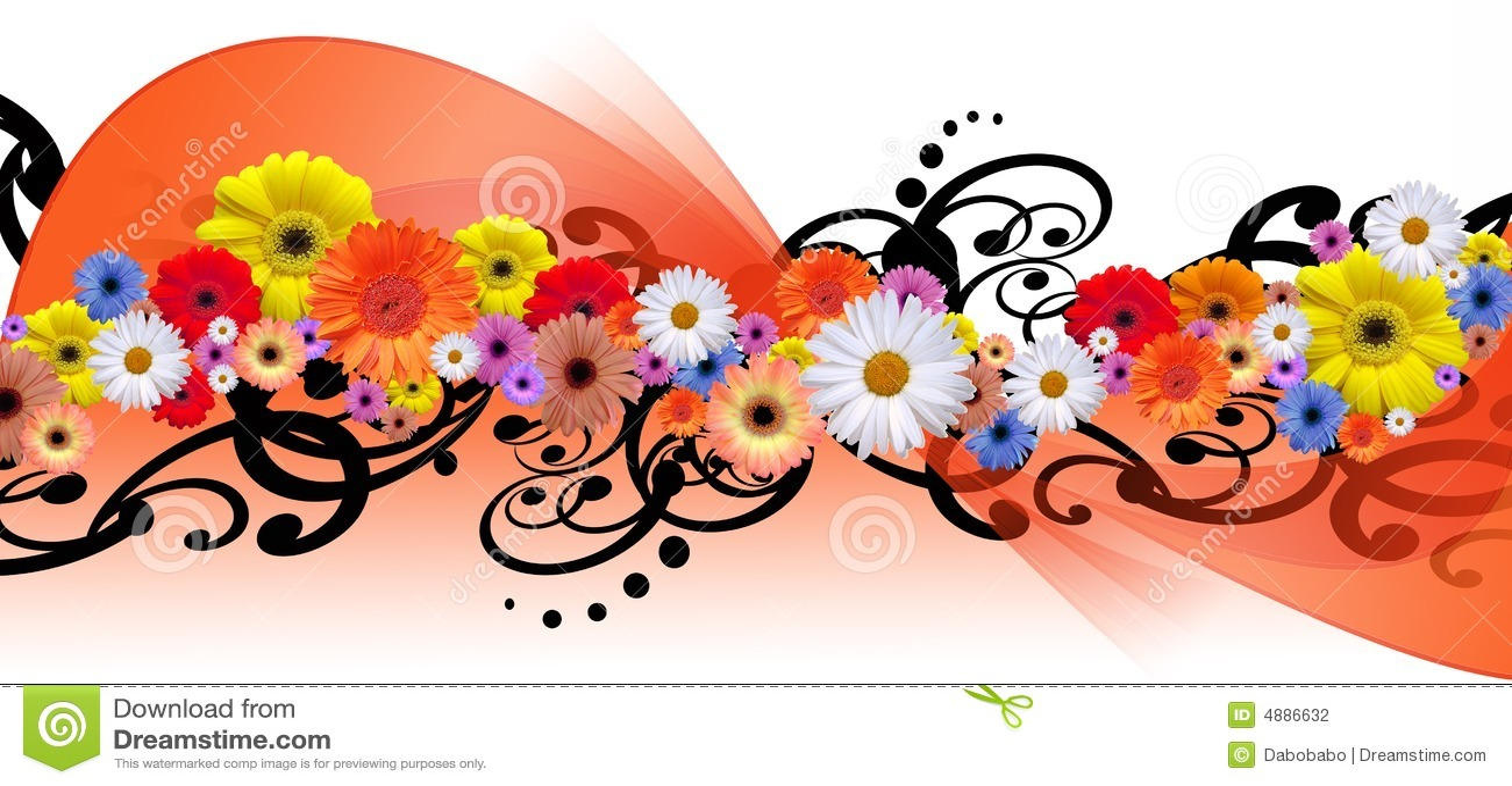 Линия цветка