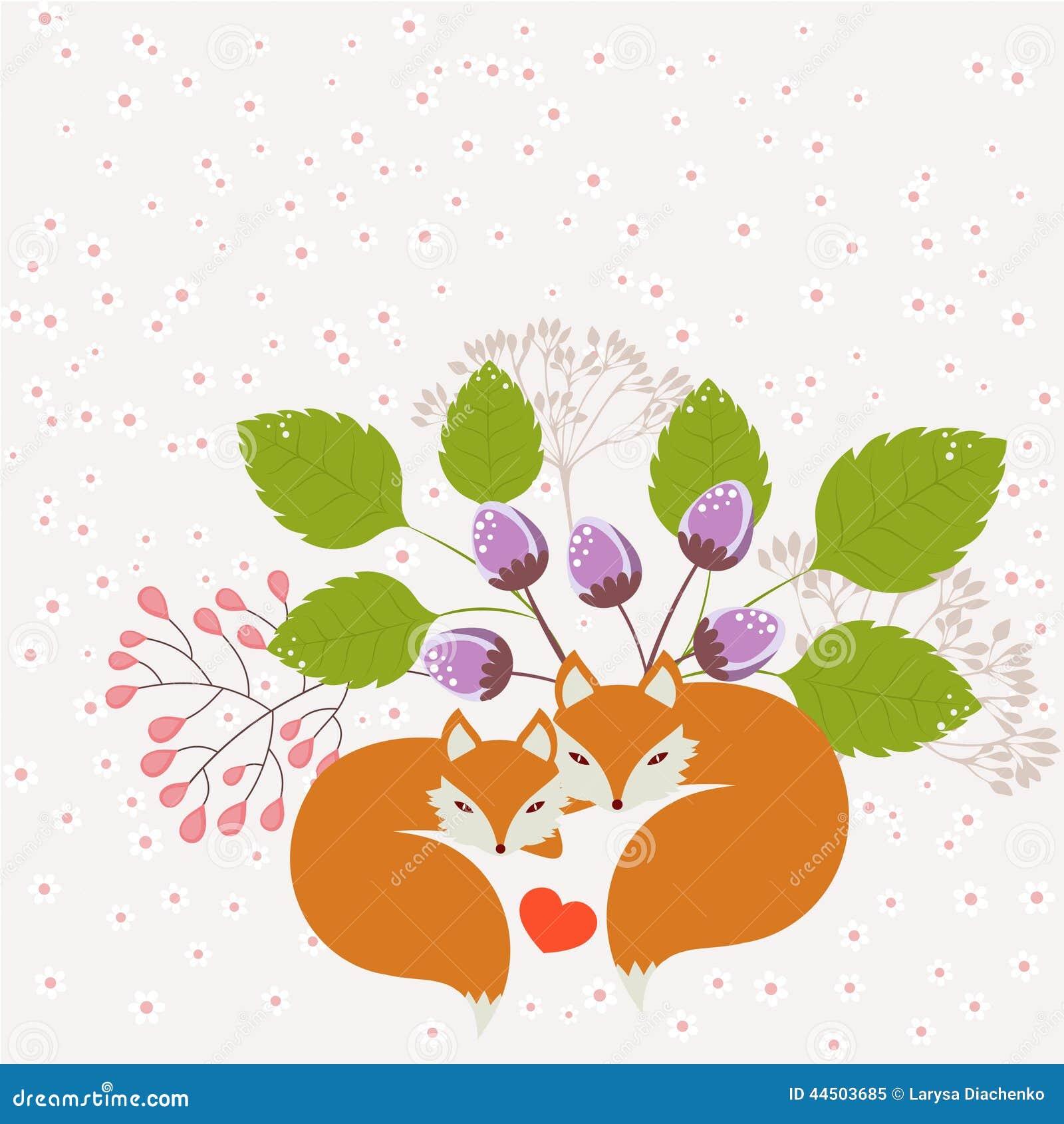 Лисицы в влюбленности