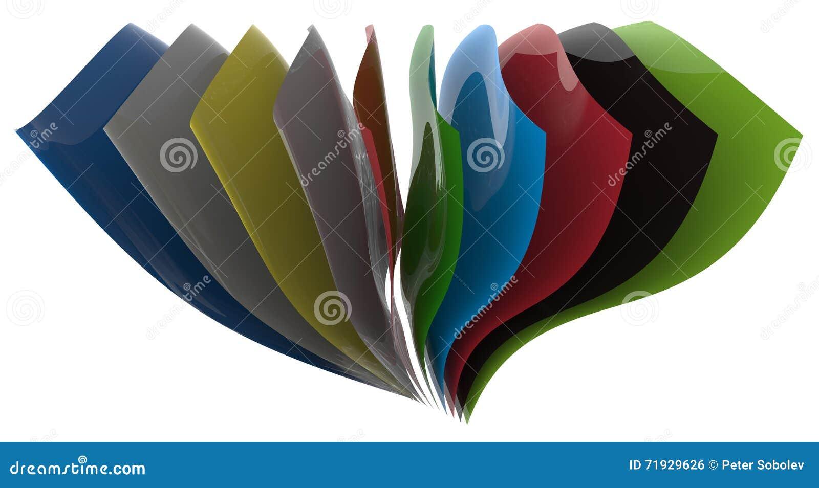Листы пластмассы цвета