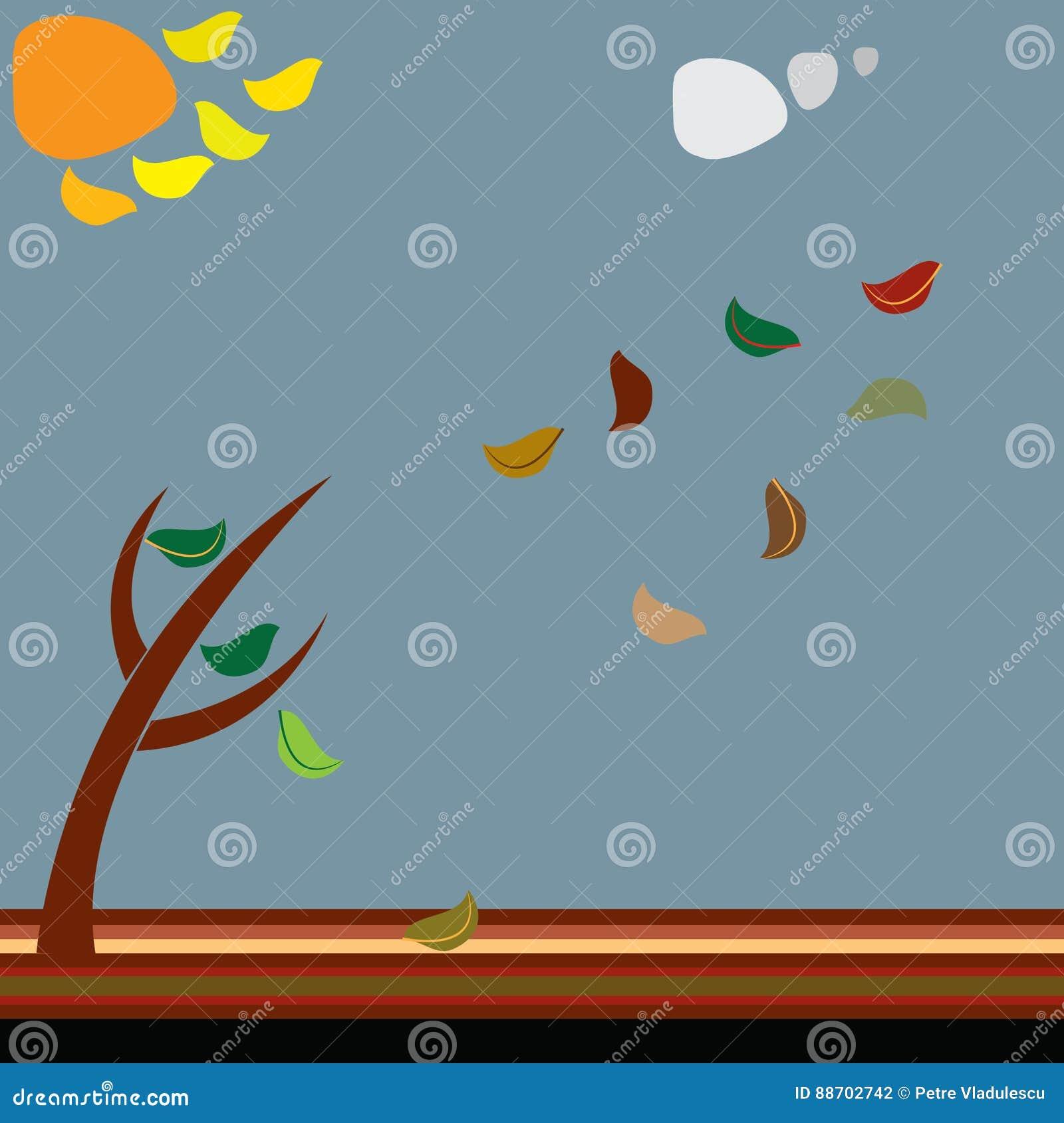 Листья принятые ветром
