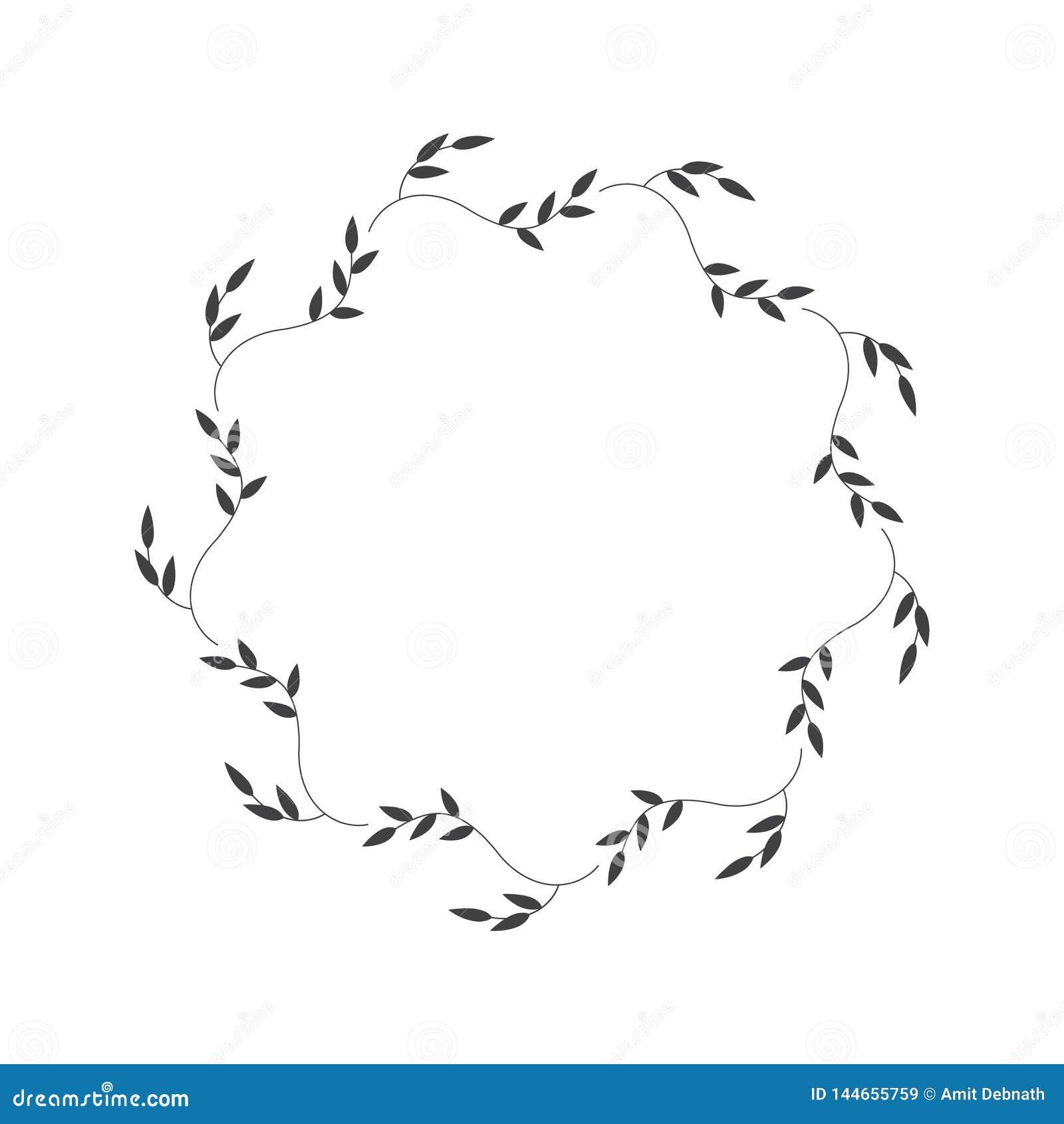 Лист вектора круглые выходят для вензеля логотипа