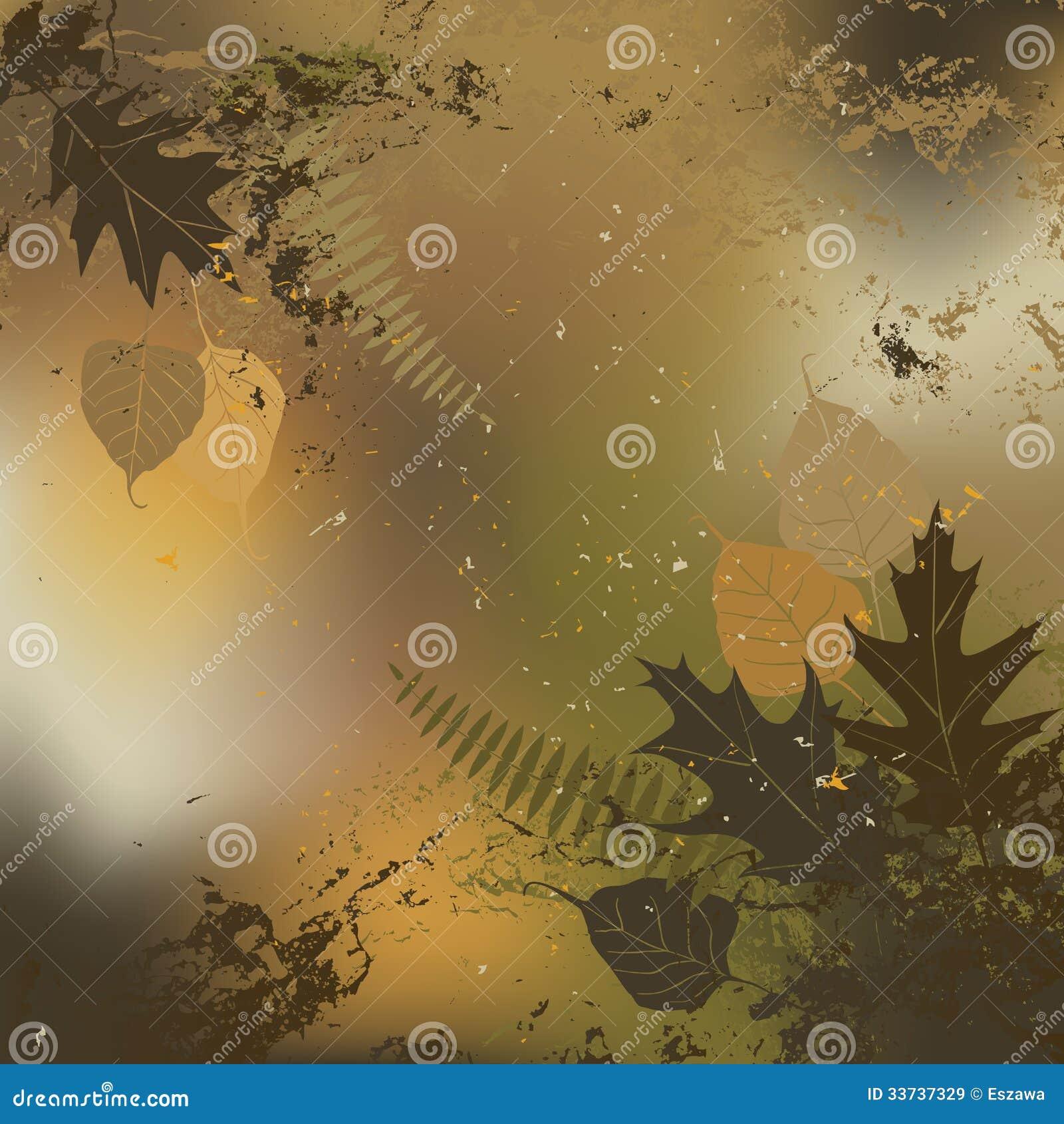 Лист, осень - предпосылка вектора