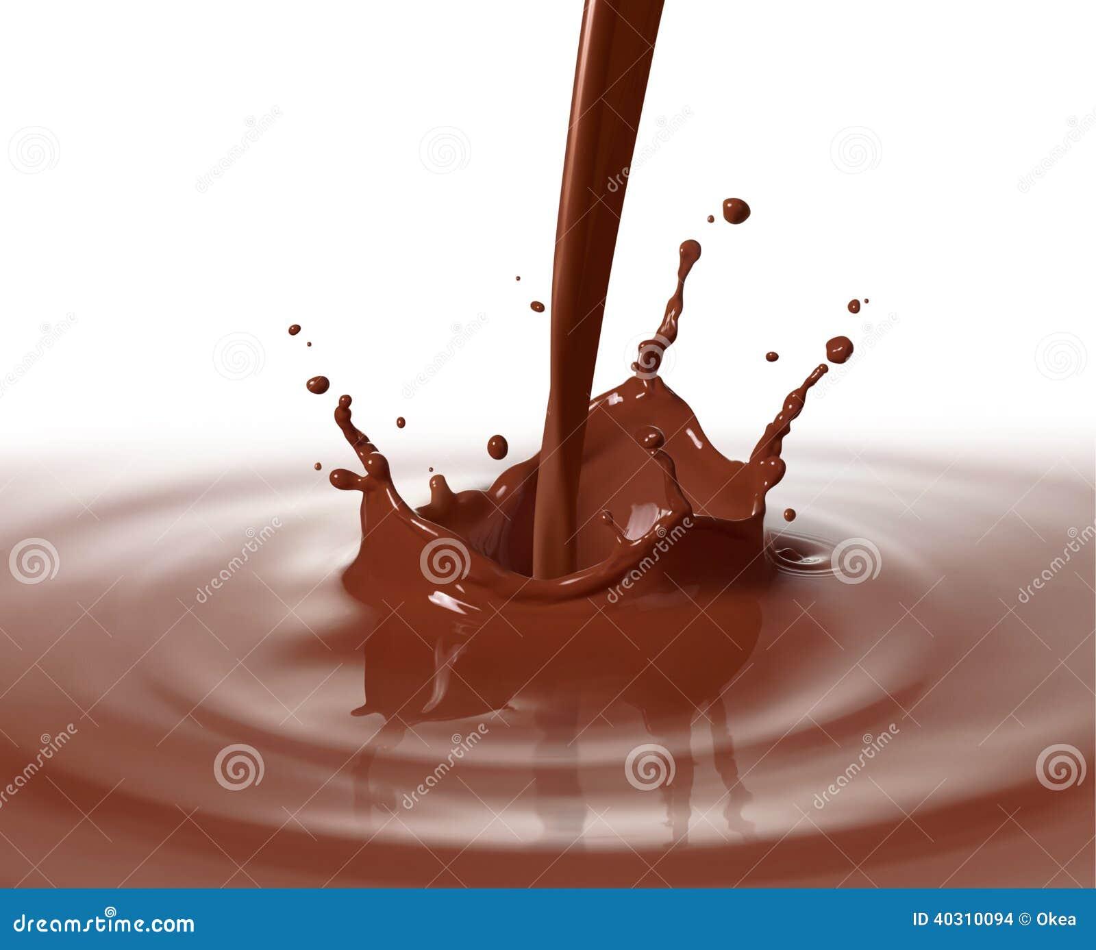 Лить шоколад