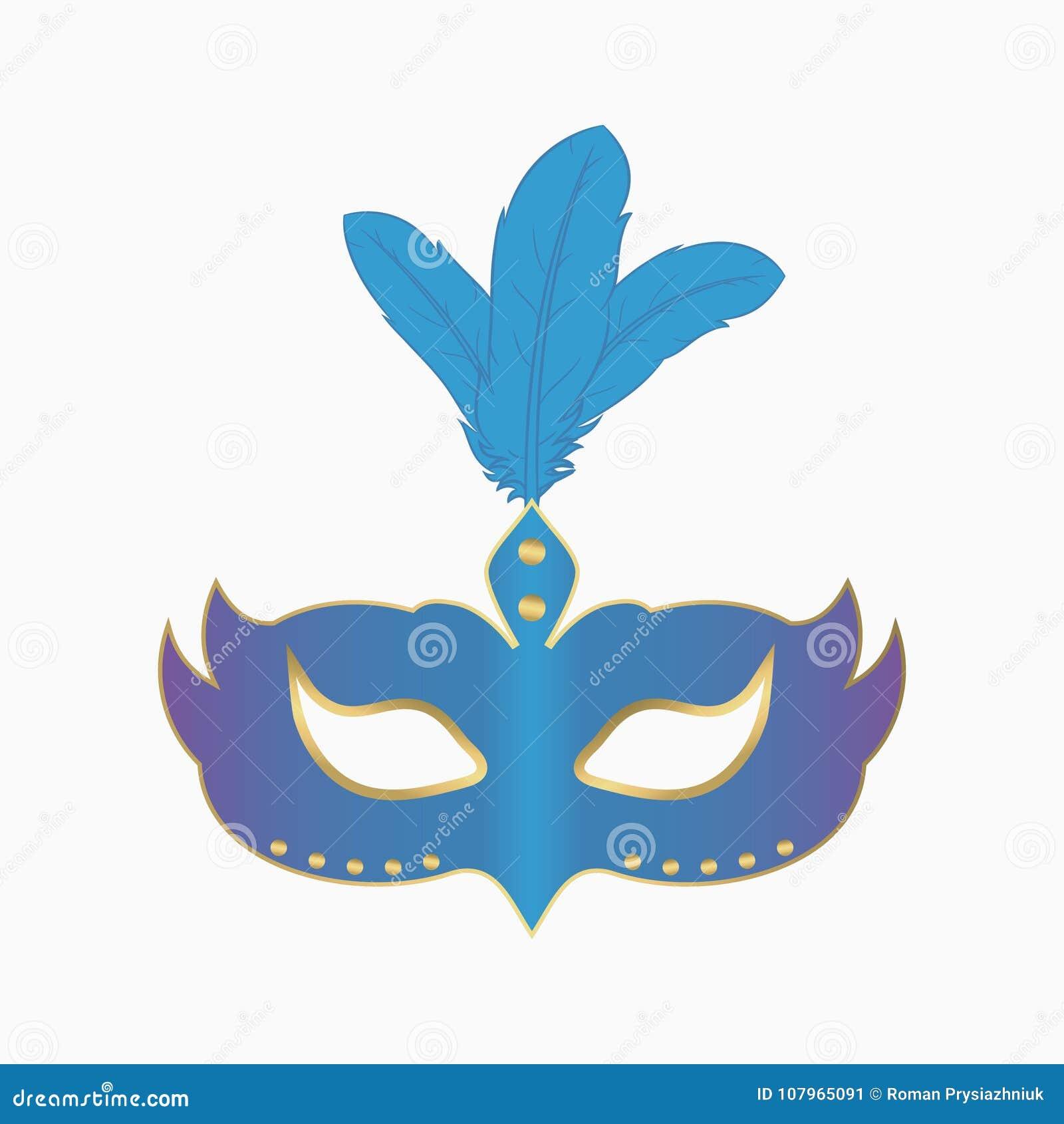 Лицевой щиток гермошлема масленицы с пер Украшение для партии masquerade вектор