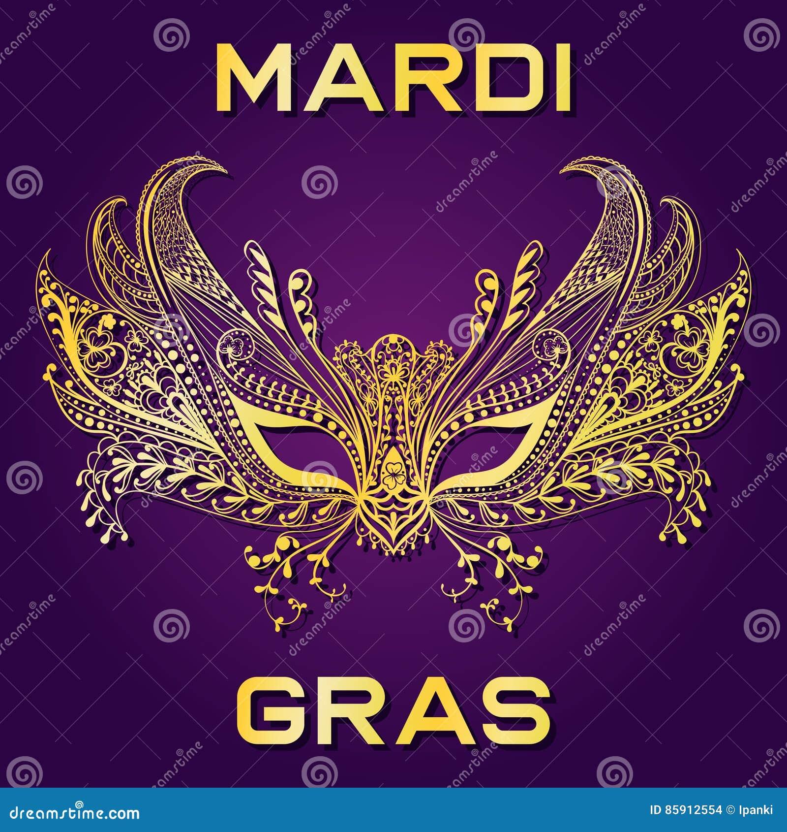 Лицевой щиток гермошлема масленицы золотой для приглашения марди Гра, приветствуя ca