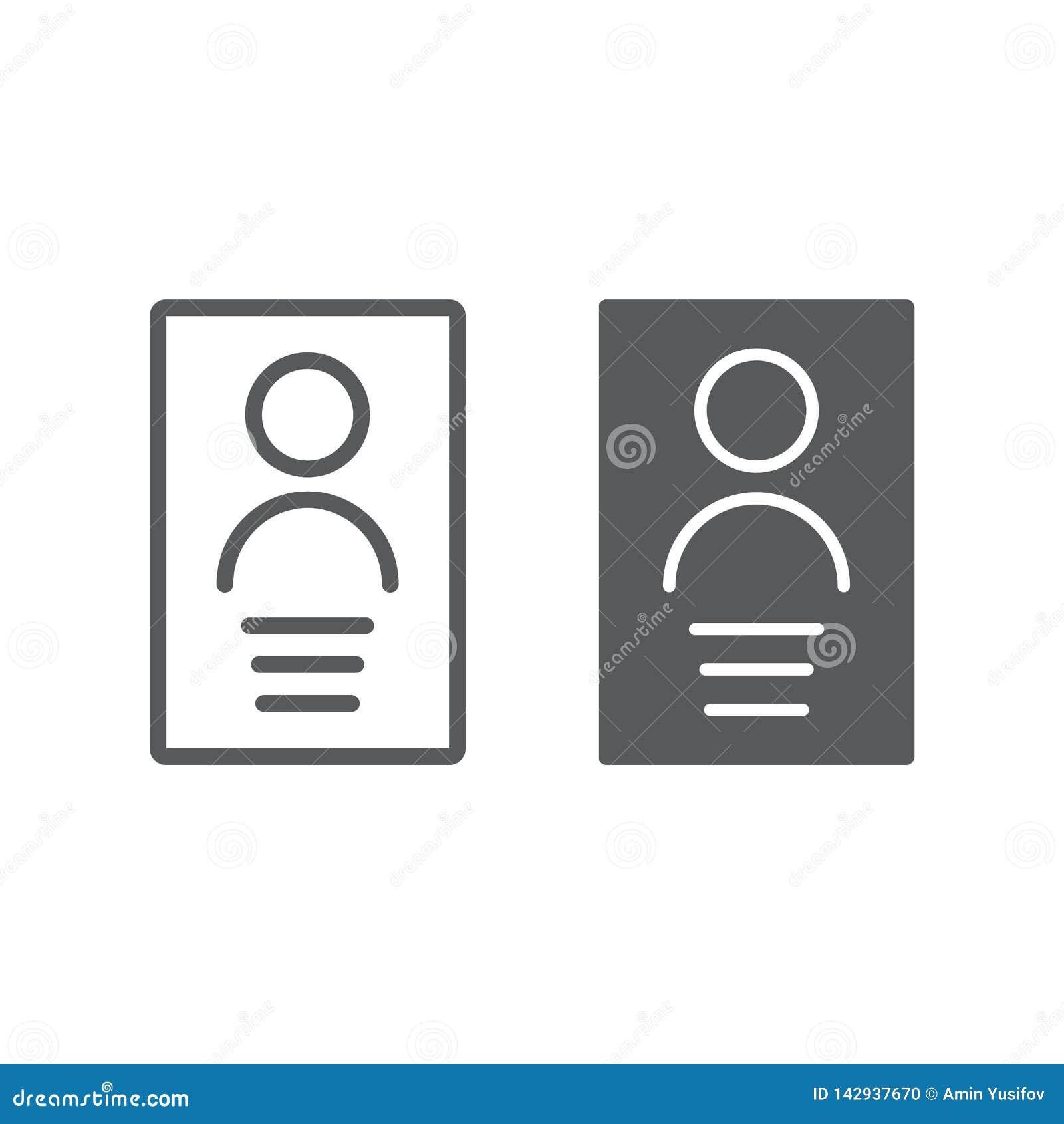 Личные телевизионная строка с данными телетекста и значок глифа, файл и информация, знак документа, векторные графики, линейная к
