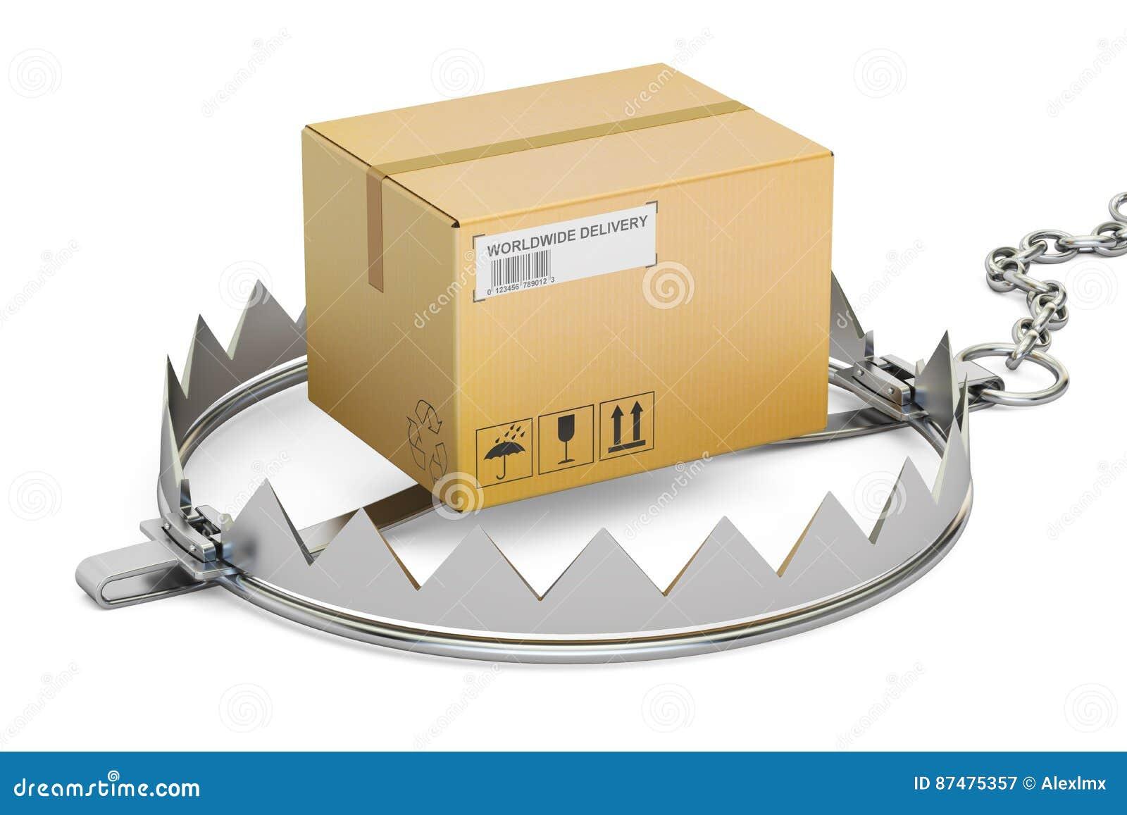 Ловушка с пакетом, переводом 3D