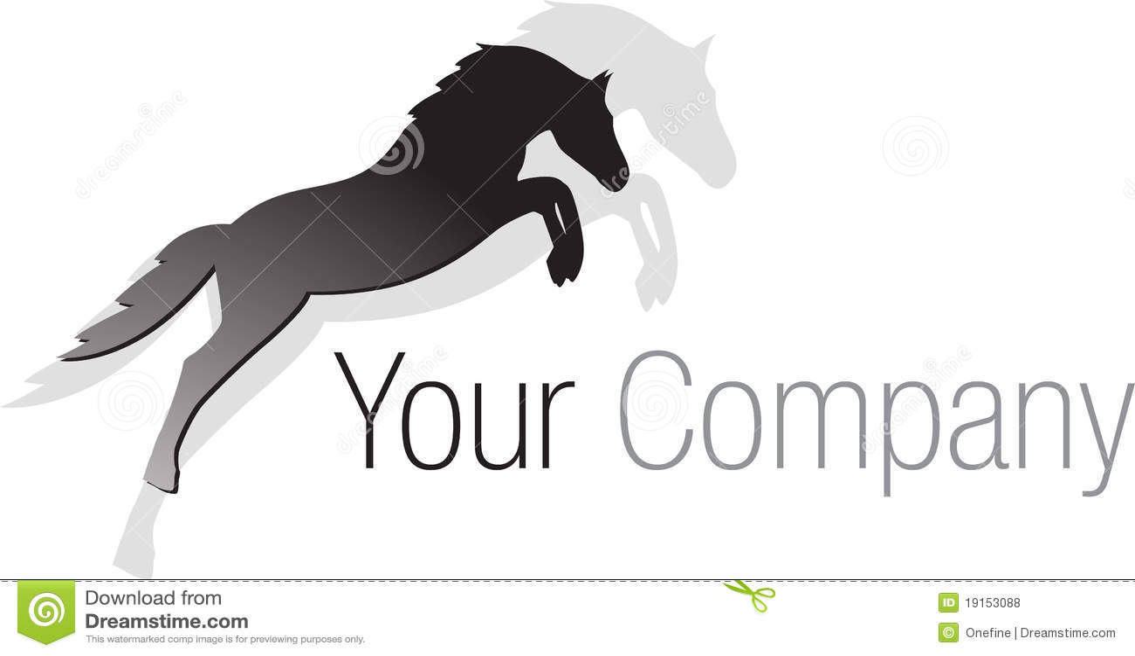 логос черной лошади скача