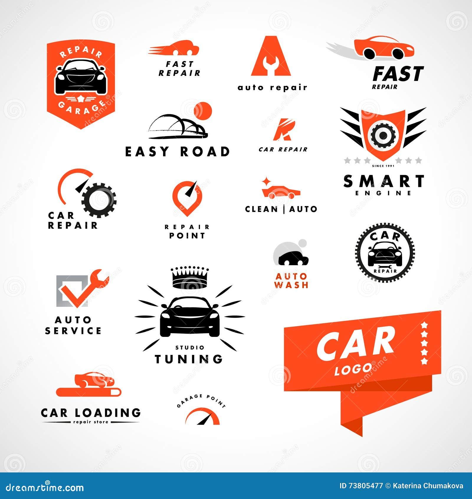 Логотип автомобиля вектора плоско простой minimalistic
