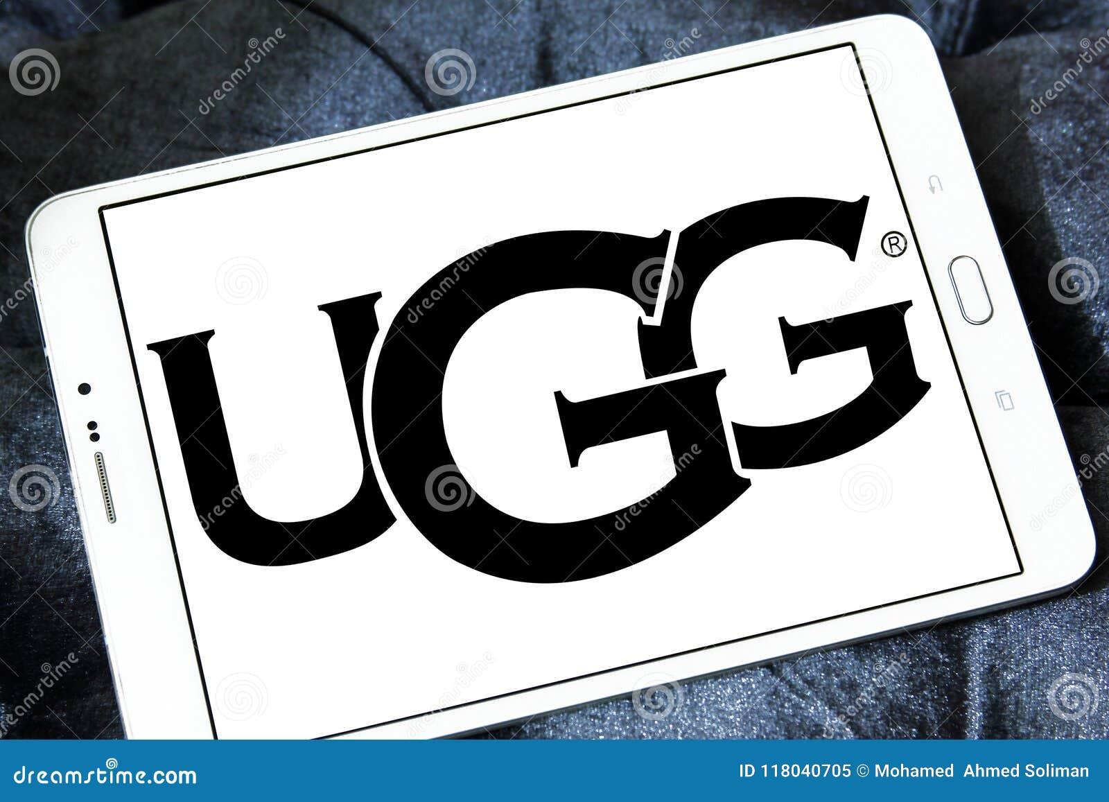 035a42fdda6 Логотип бренда обуви UGG редакционное изображение. изображение ...