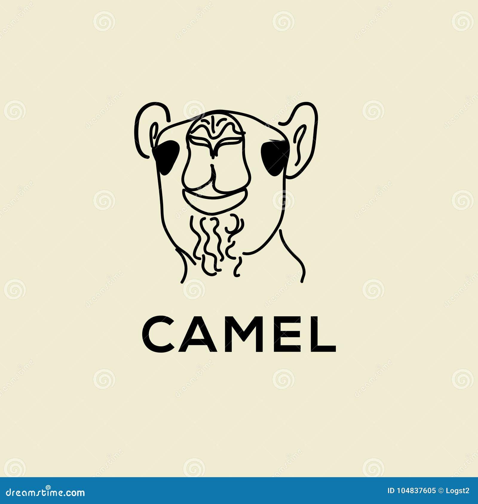Логотип вектора верблюда Одичалая эмблема верблюда