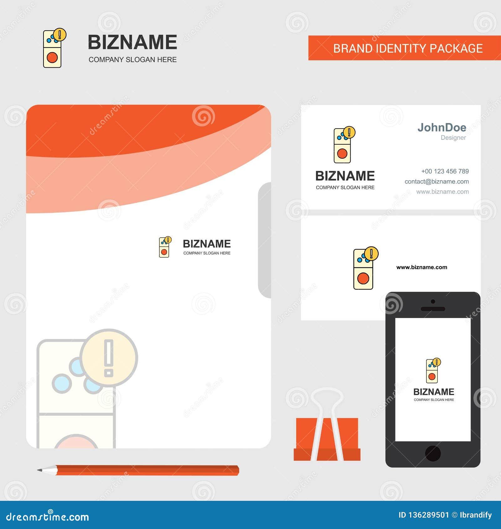 Логотип дела ошибки интернета, карта посещения крышки файла и мобильный дизайн приложения также вектор иллюстрации притяжки corel