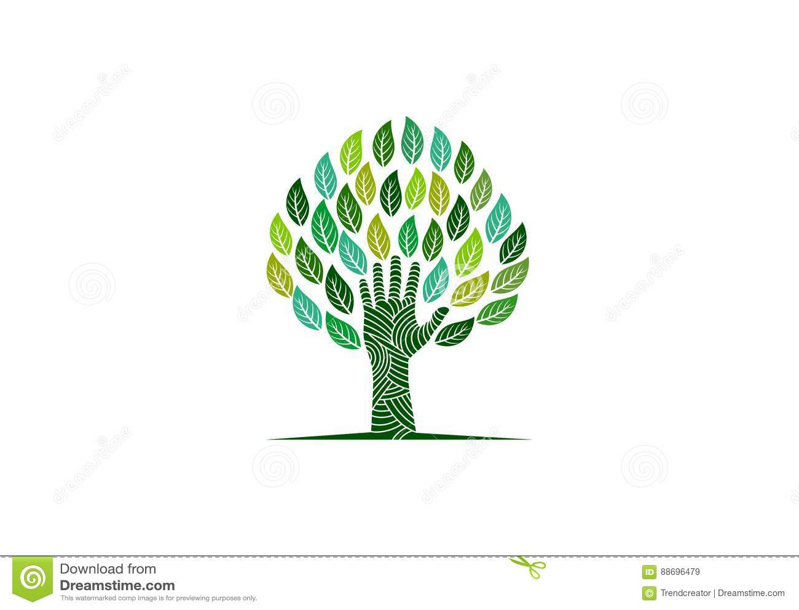 Логотип дерева руки