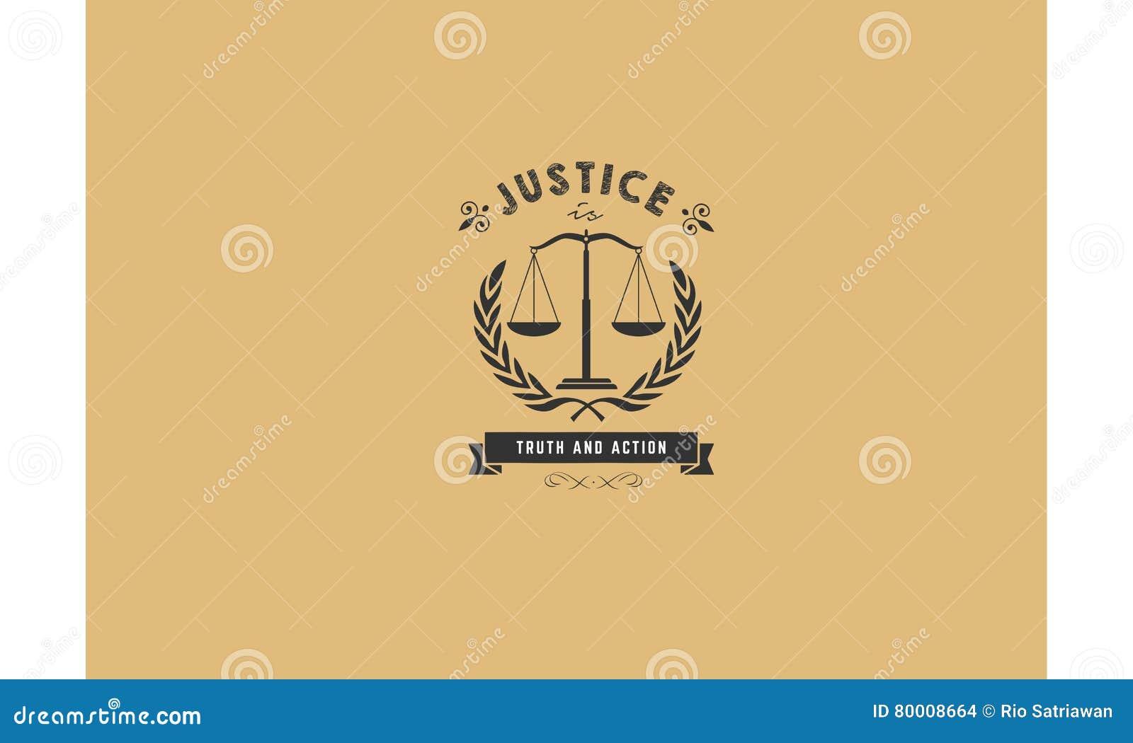 Логотип значка правосудия