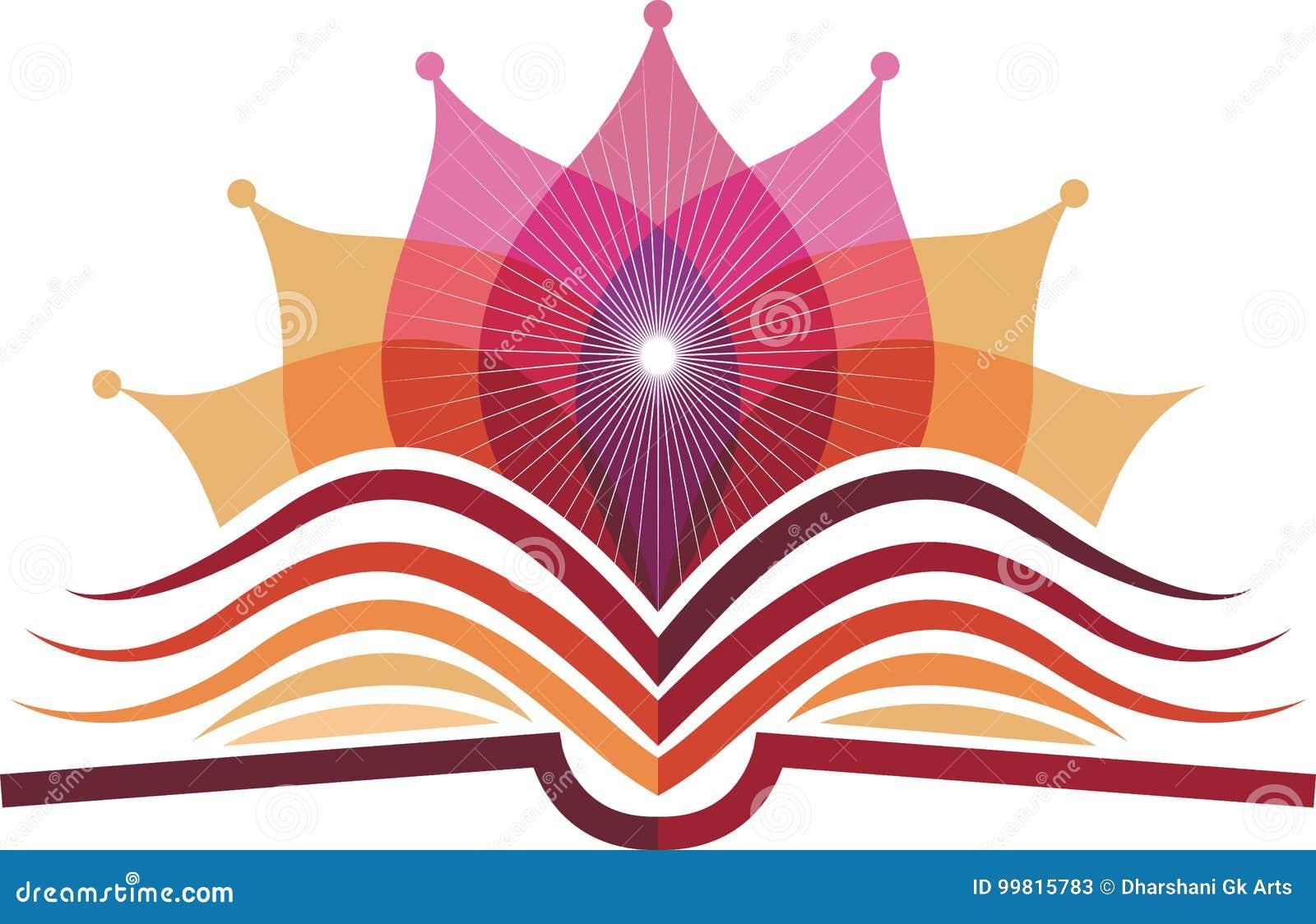 Логотип йоги книги