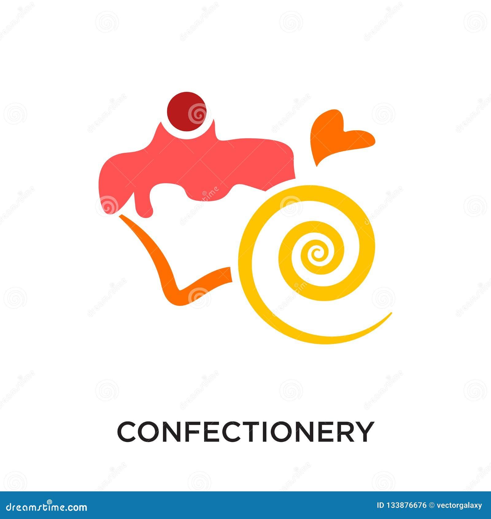 логотип кондитерскаи изолированный на белой предпосылке для вашей сети, mo