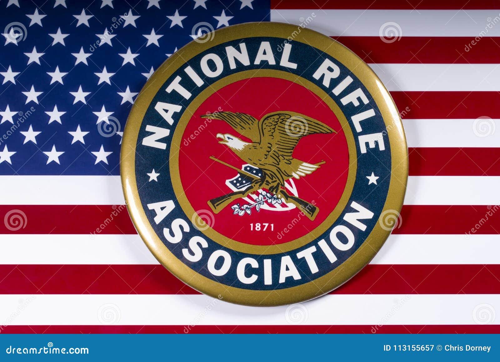 Логотип национальной ассоциации винтовки и флаг США