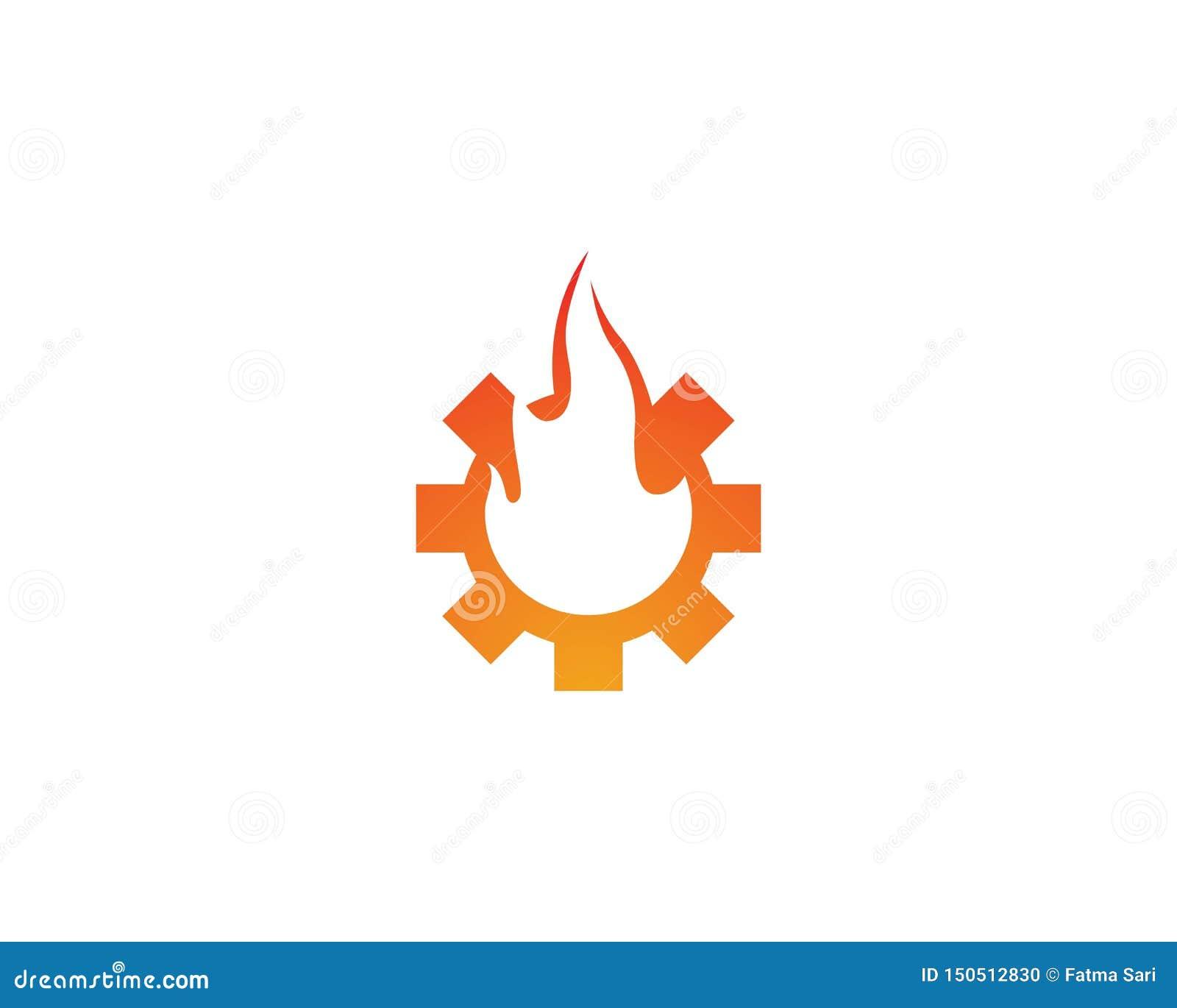 Логотип пламени огня