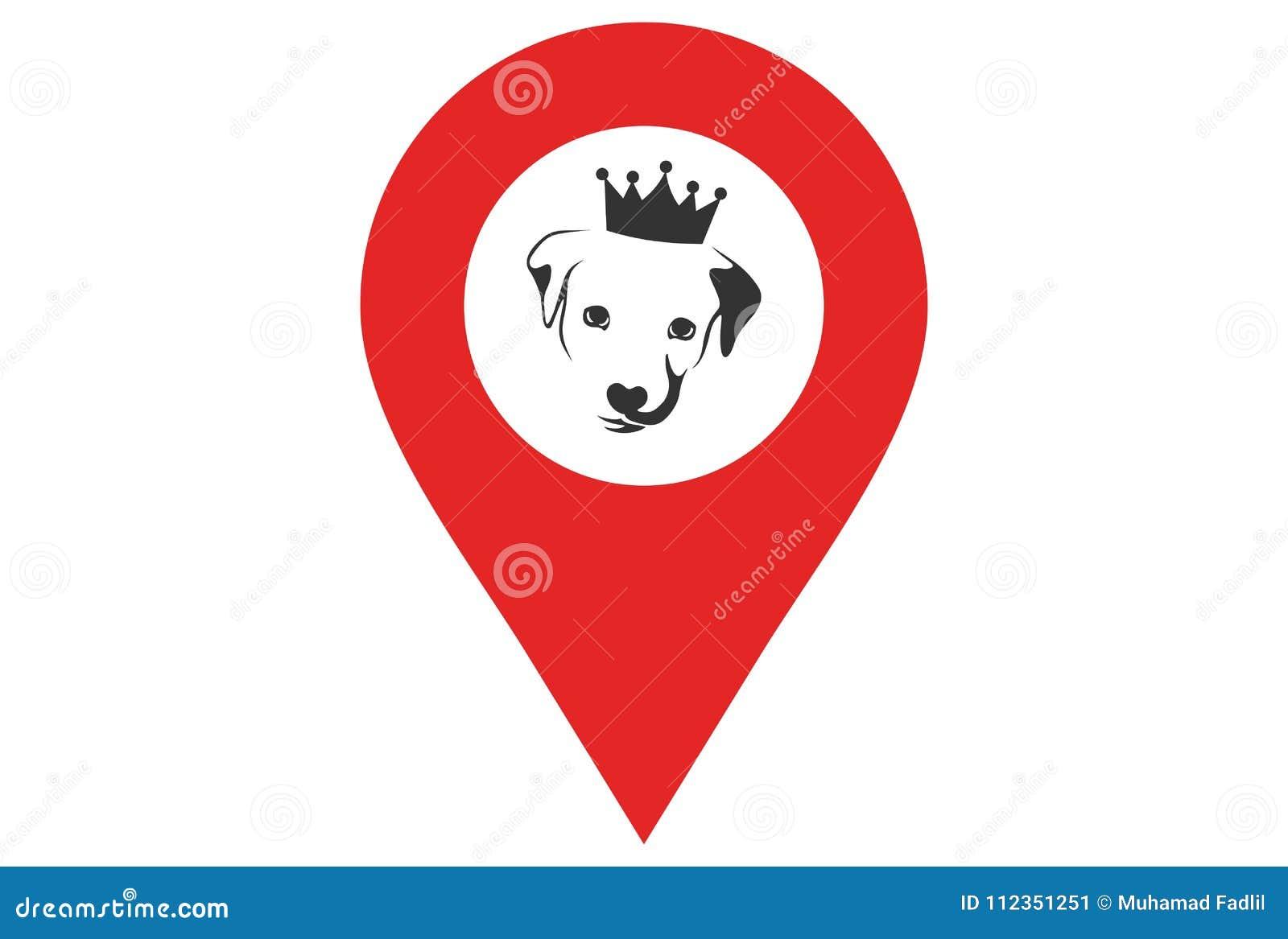 Логотип положения собаки короля