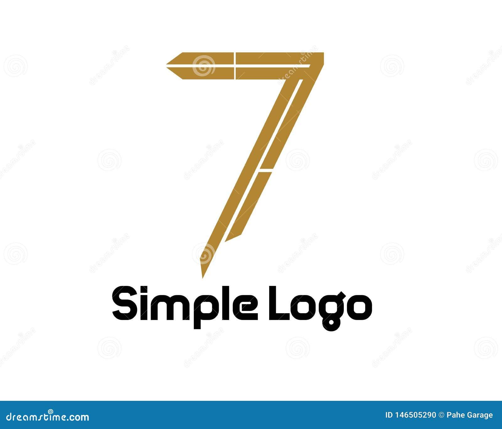 Логотип 7 простой для дела