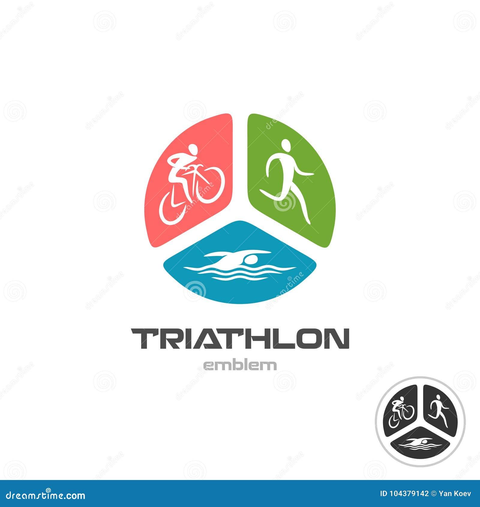 Логотип спорта триатлона