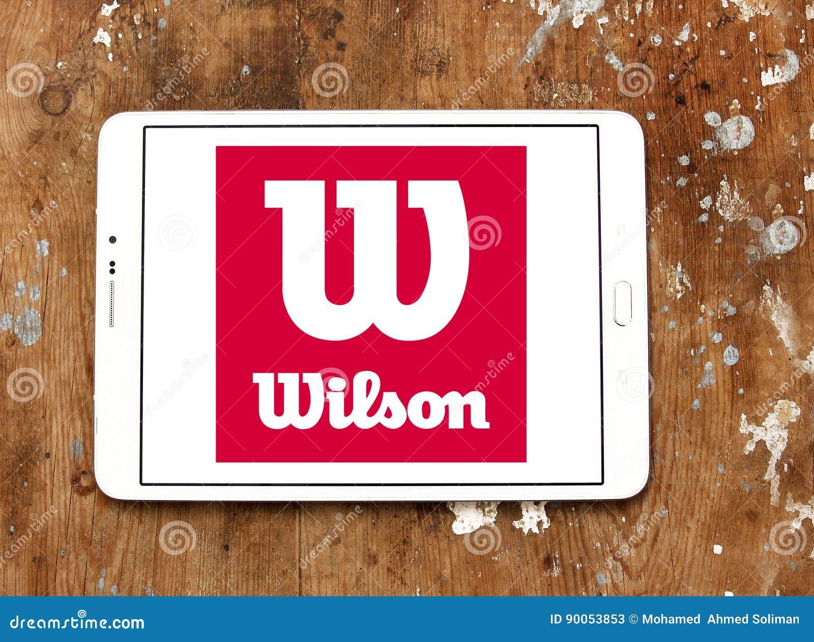 486bed0cf8c8 Логотип спортивных товаров Уилсона Редакционное Стоковое Фото ...