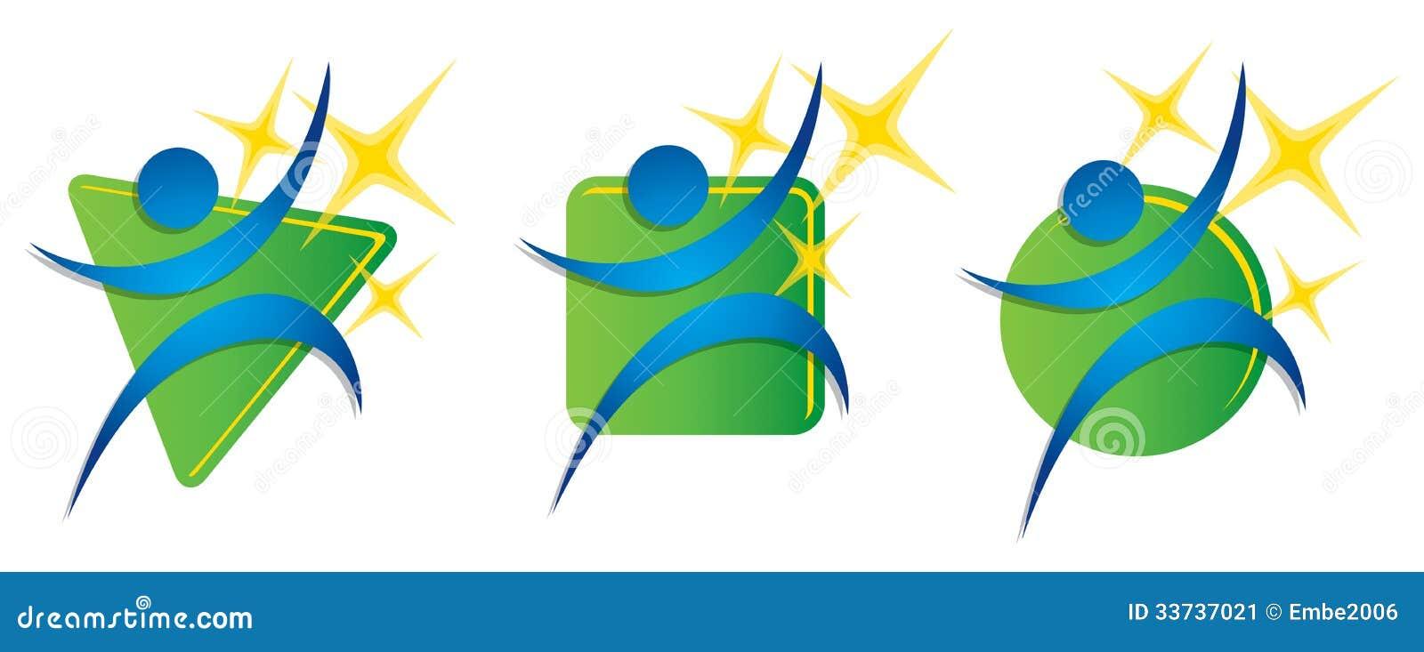 Логотип тренировки пригодности