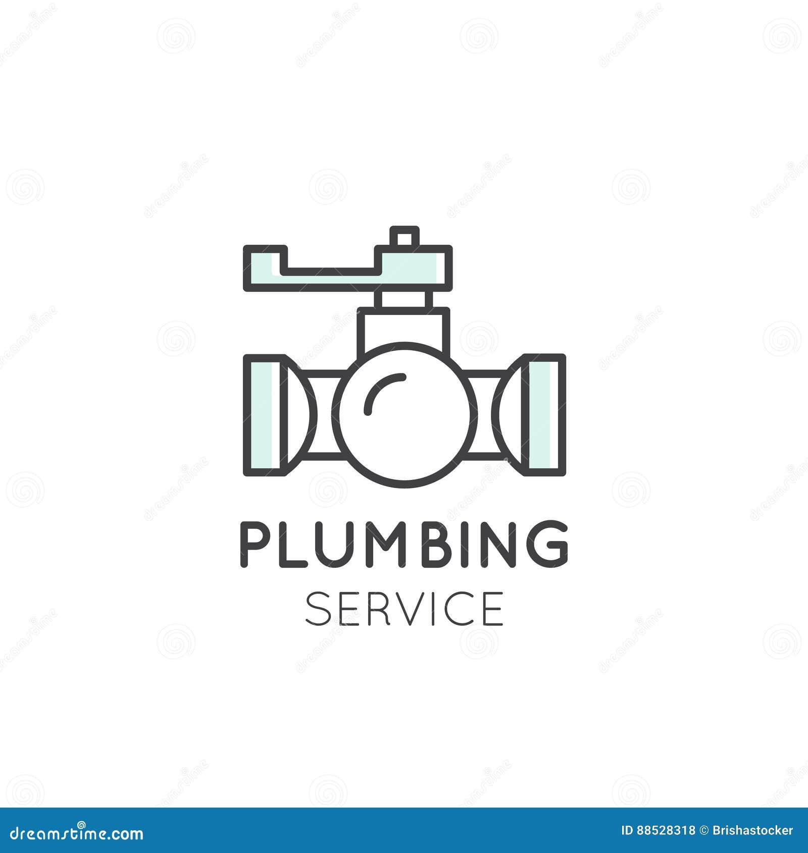 Логотип уборки, Трубопровод концепции, Dishwashing, Домочадец Компания
