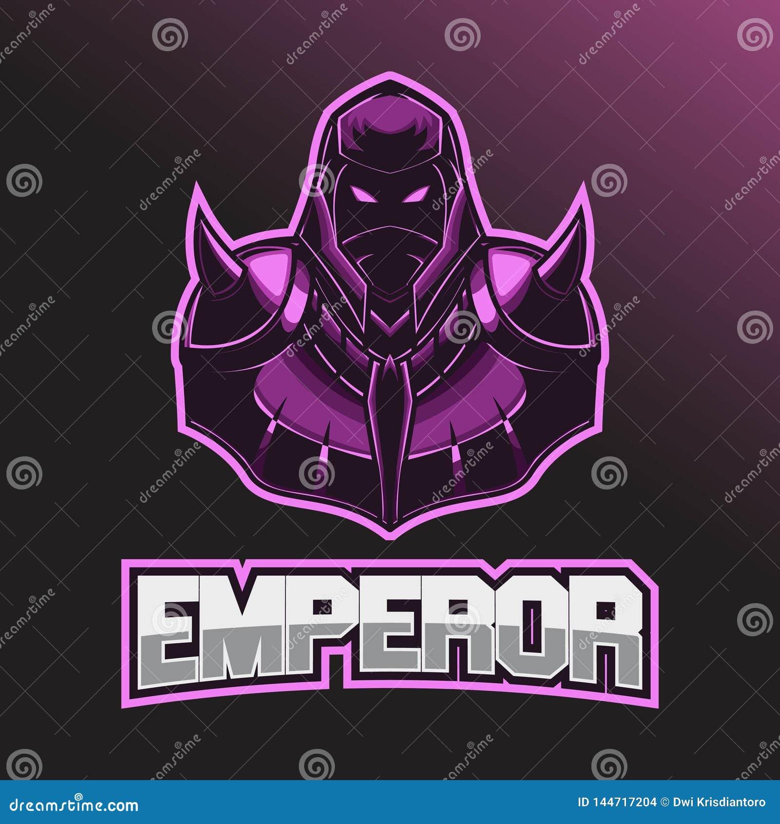 Логотип Esport воина Шаблон логотипа Esport с носить шлем и панцырь боя