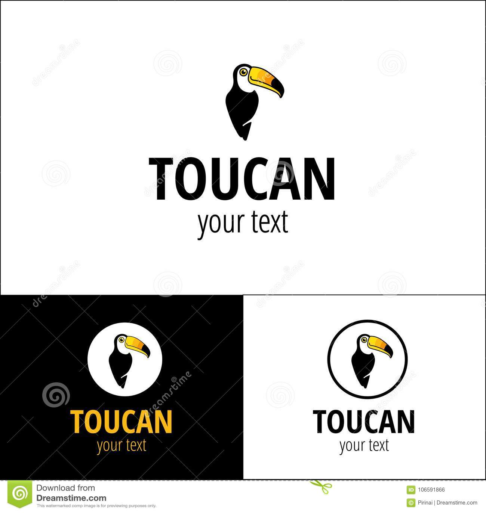 Логотип Toucan тропический
