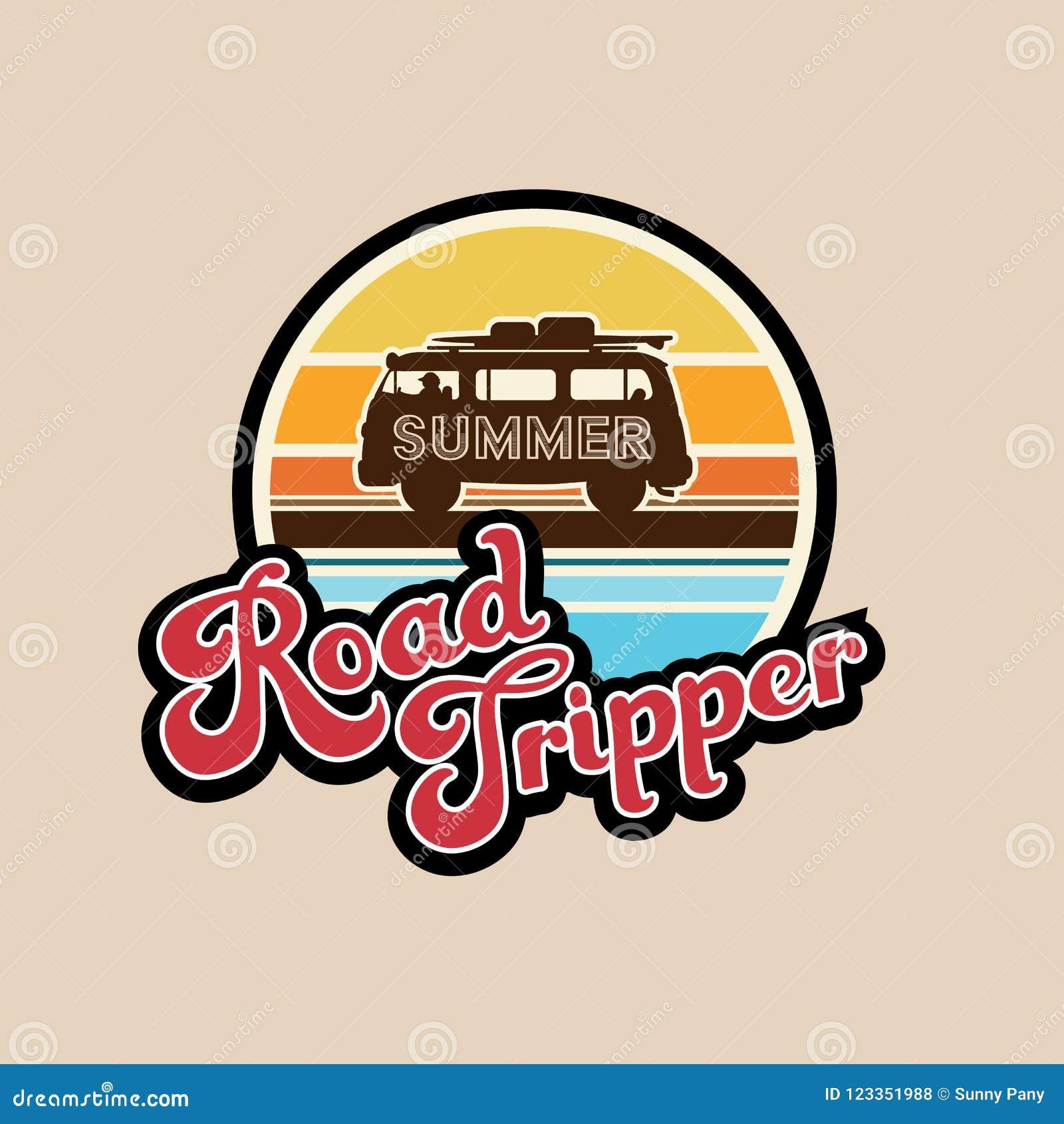 Лозунг опрокидывателя дороги лета, оформление, график футболки, напечатал дизайн